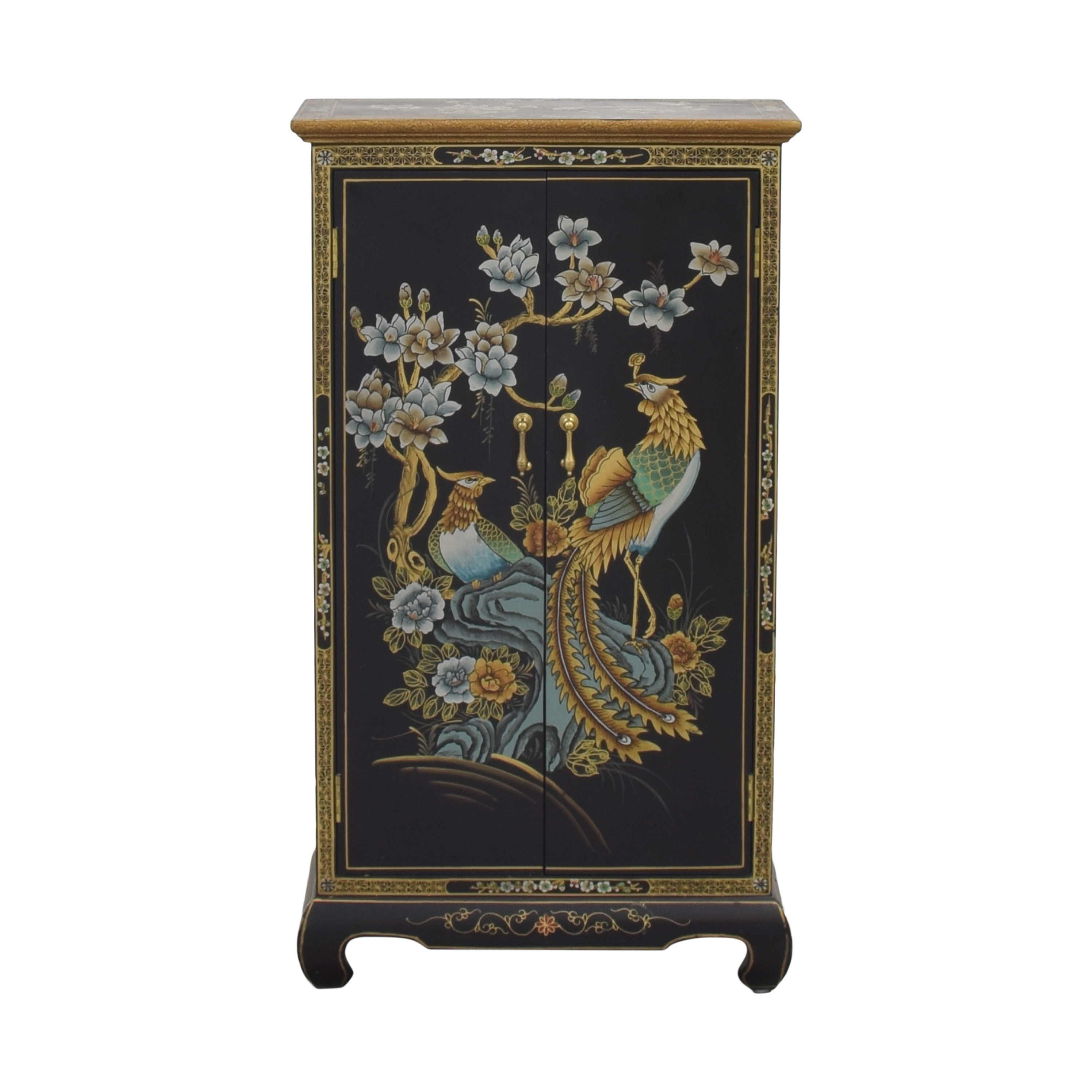 Two Door  Chinoiserie Cabinet second hand