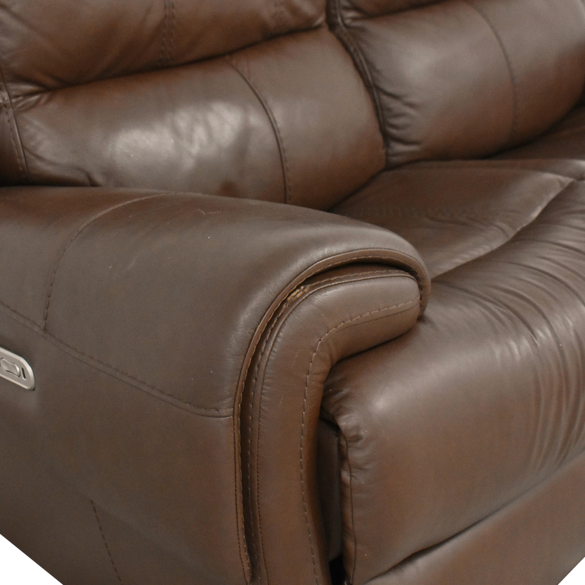 Raymour & Flanigan Raymour & Flanigan Colvin Power-Reclining Loveseat nyc
