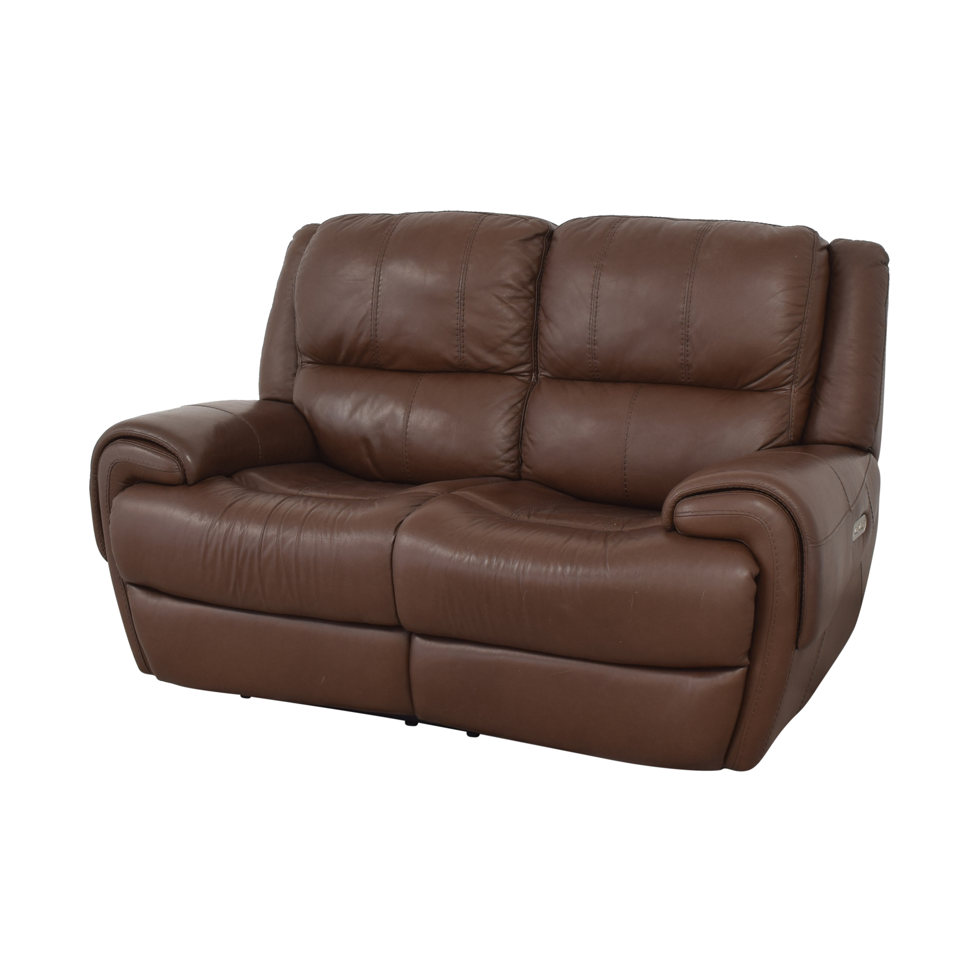 shop Raymour & Flanigan Colvin Power-Reclining Loveseat Raymour & Flanigan