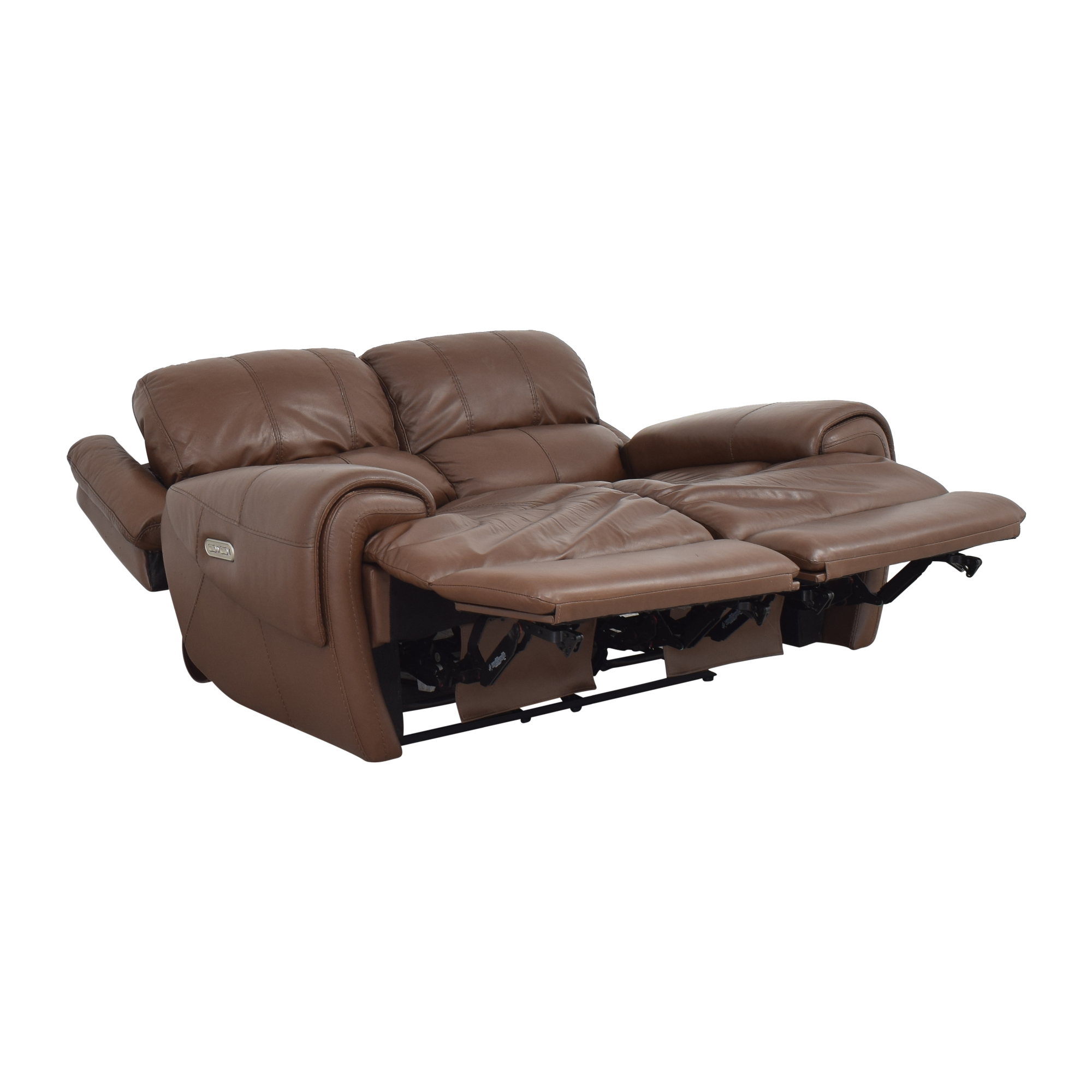 Raymour & Flanigan Raymour & Flanigan Colvin Power-Reclining Loveseat brown