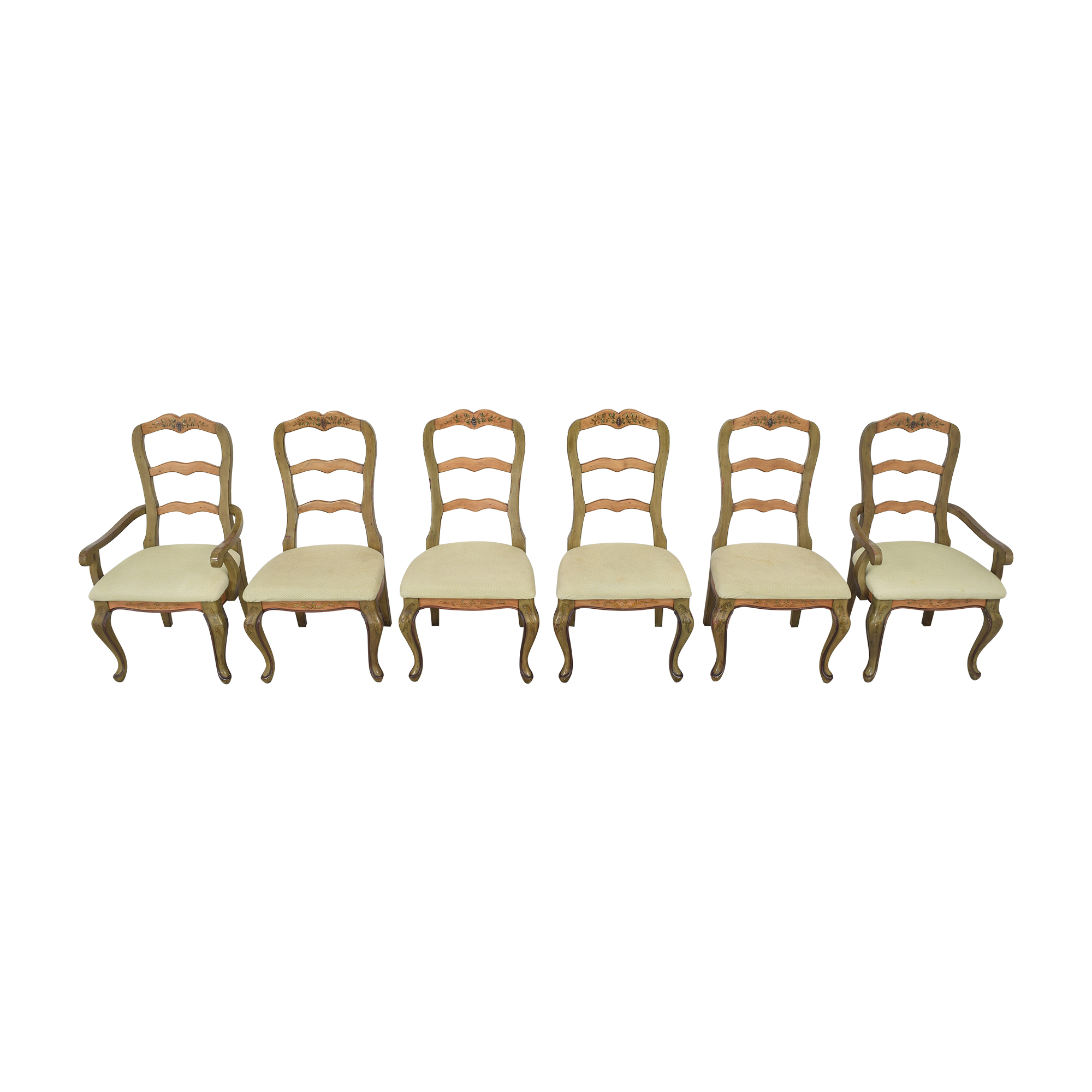 shop Painted French Country Style Dining Chairs  Dining Chairs
