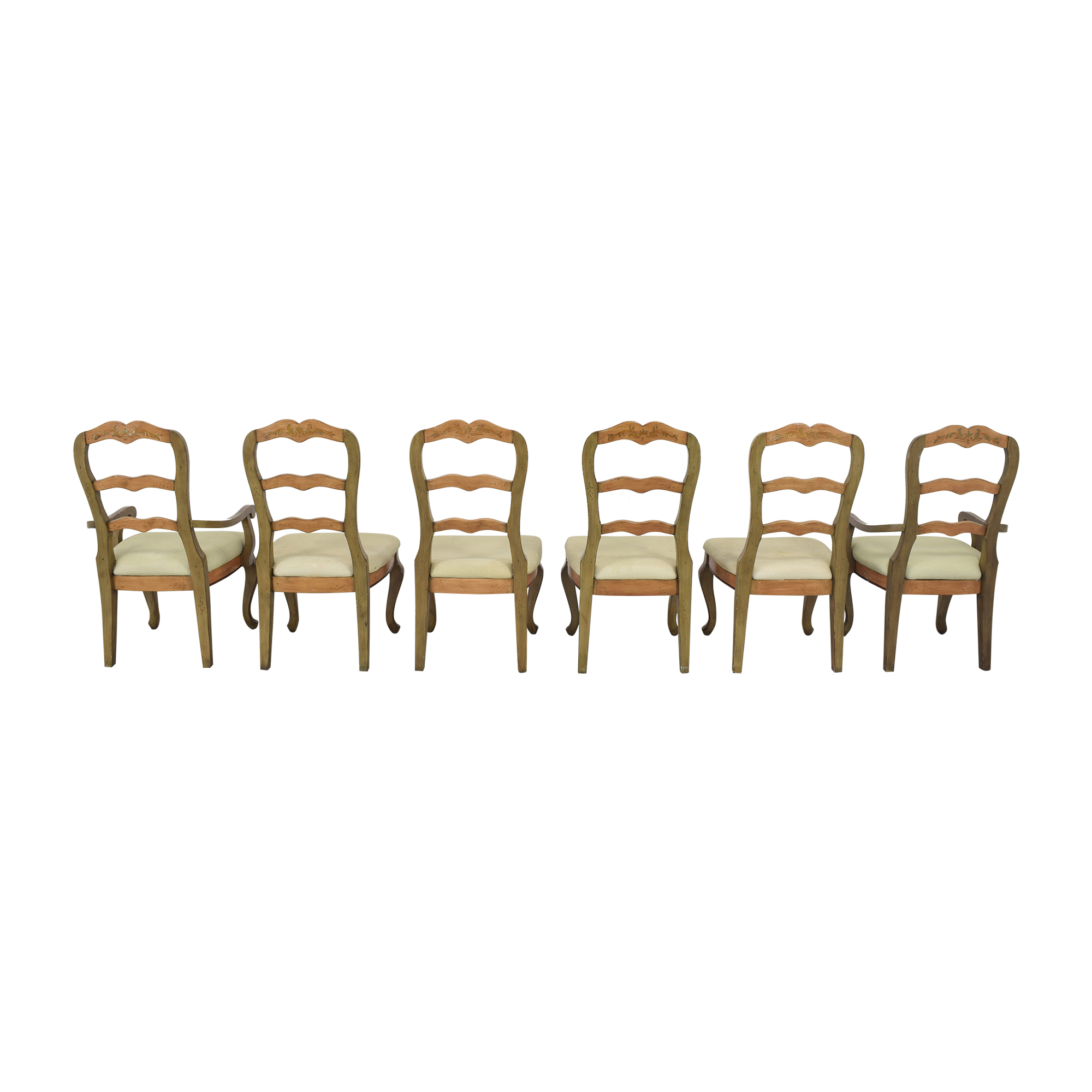 Painted French Country Style Dining Chairs