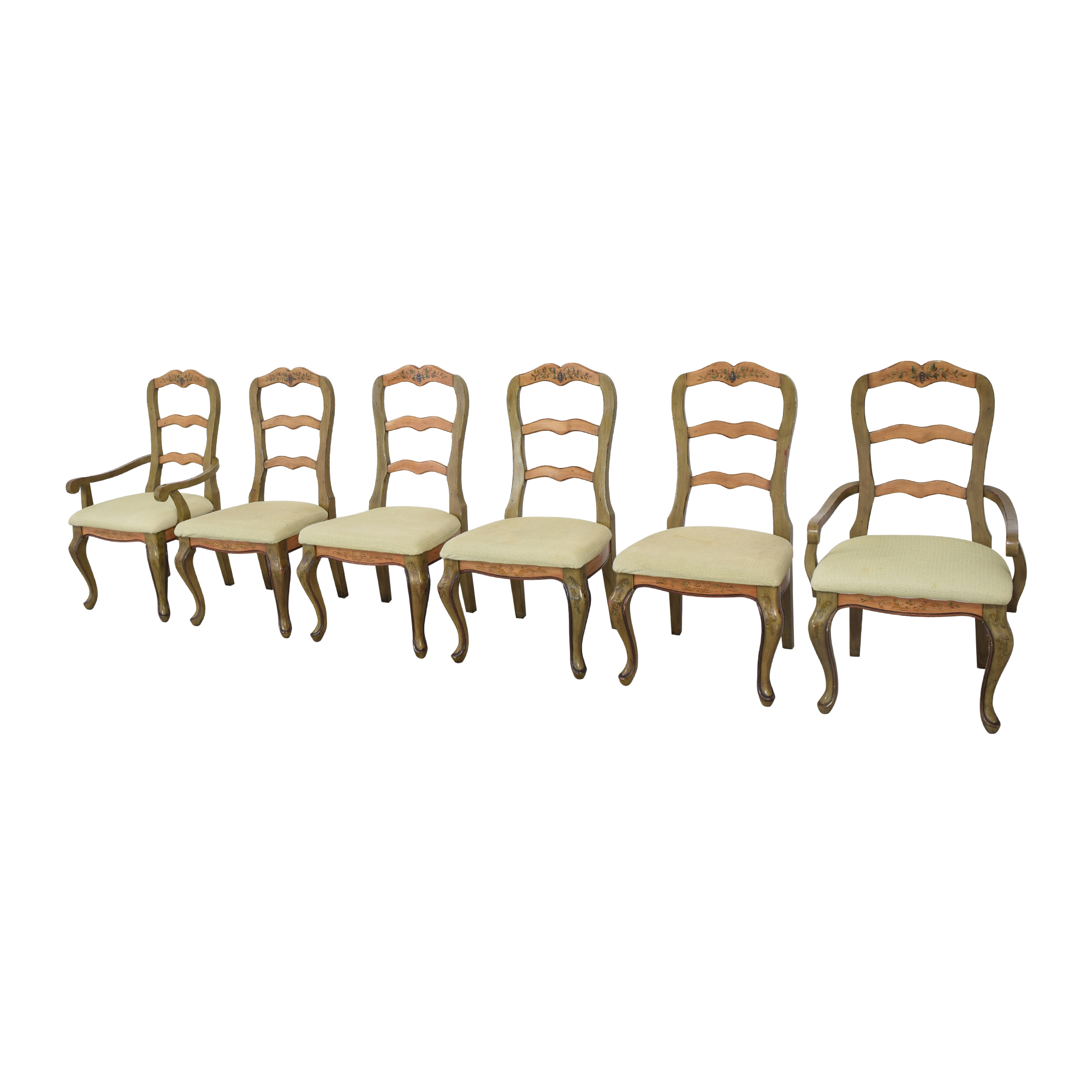 Painted French Country Style Dining Chairs ma