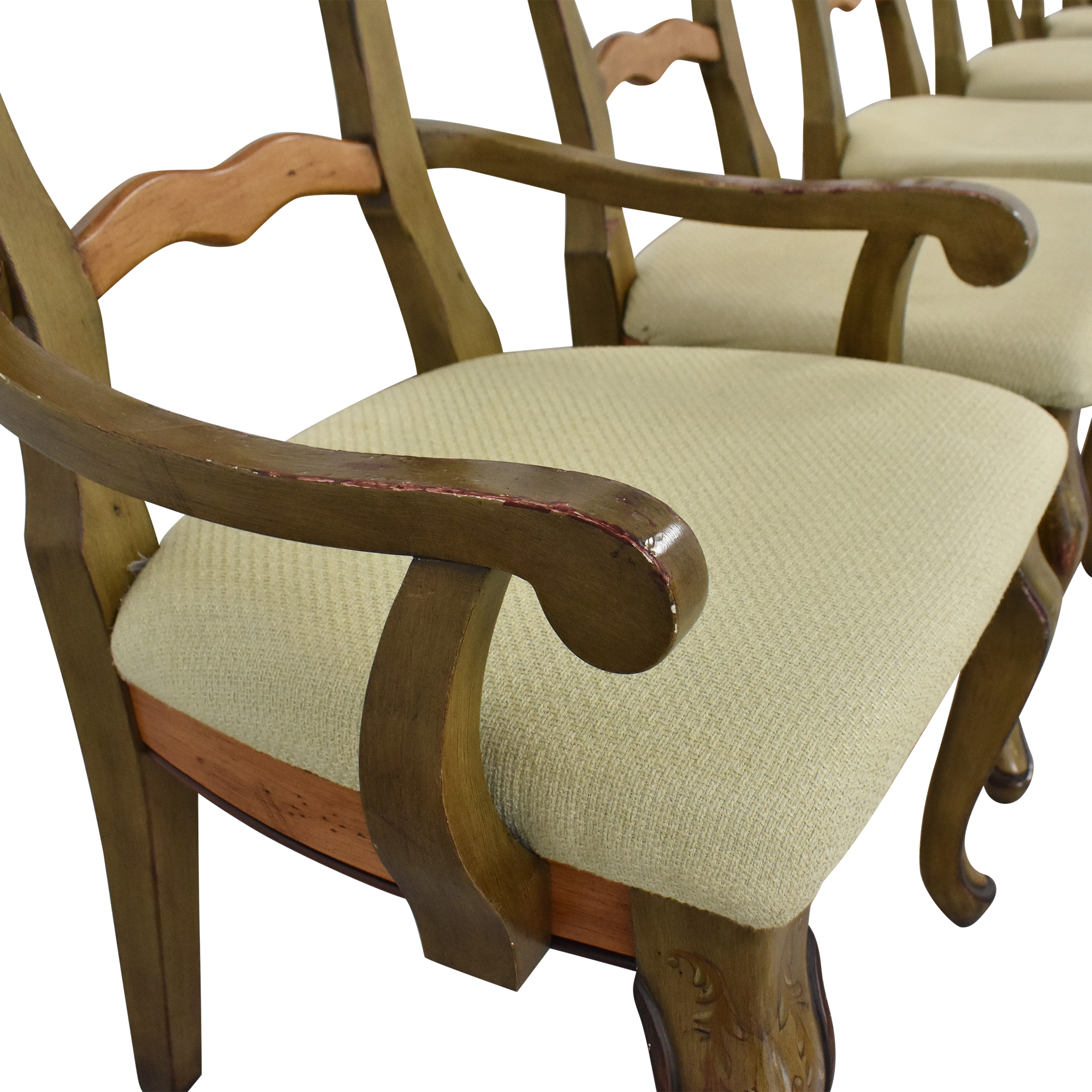 72 Off Painted French Country Style Dining Chairs Chairs
