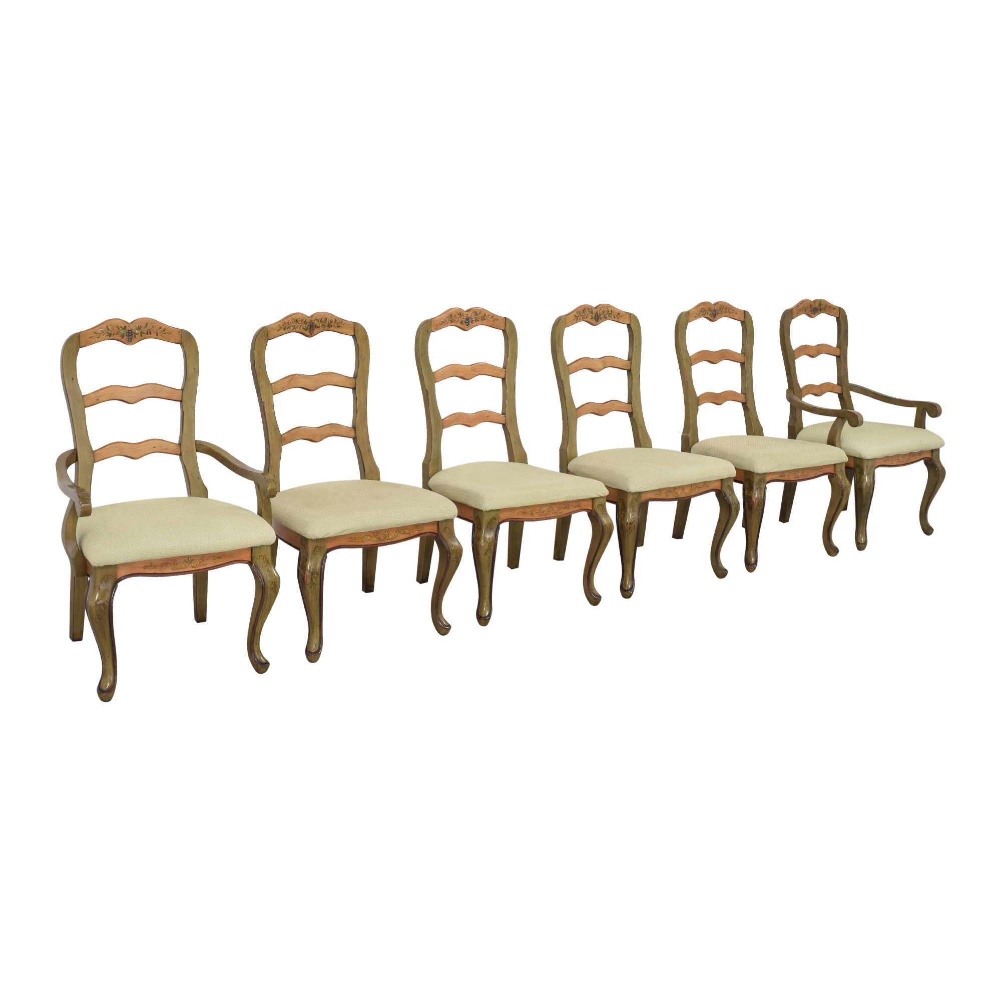 Painted French Country Style Dining Chairs used