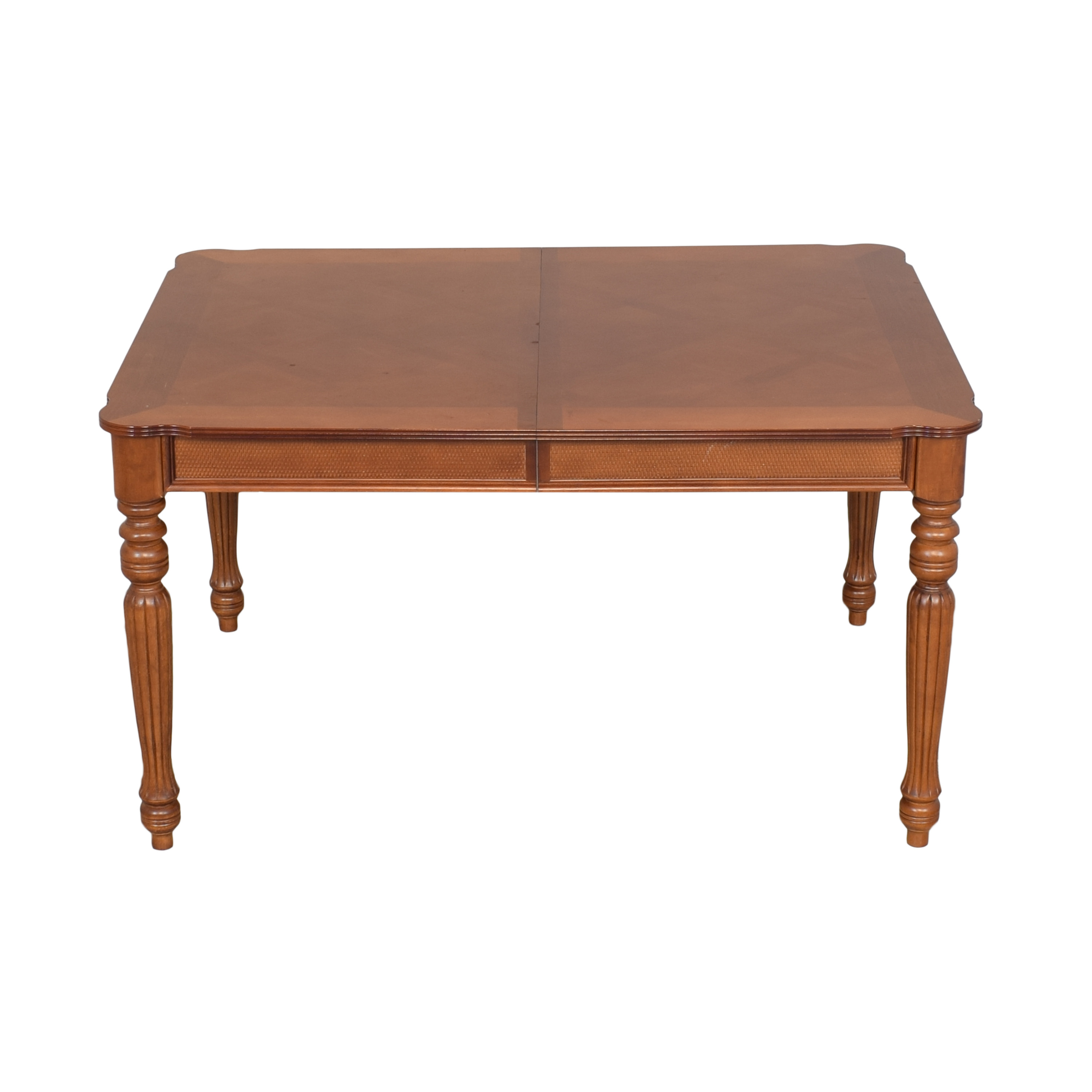 Rectangular Dining Table with Fluted Legs Tables