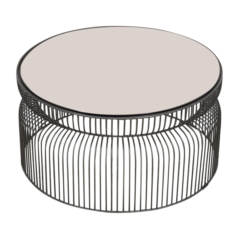 Crate & Barrel Crate & Barrel Spoke Coffee Table used