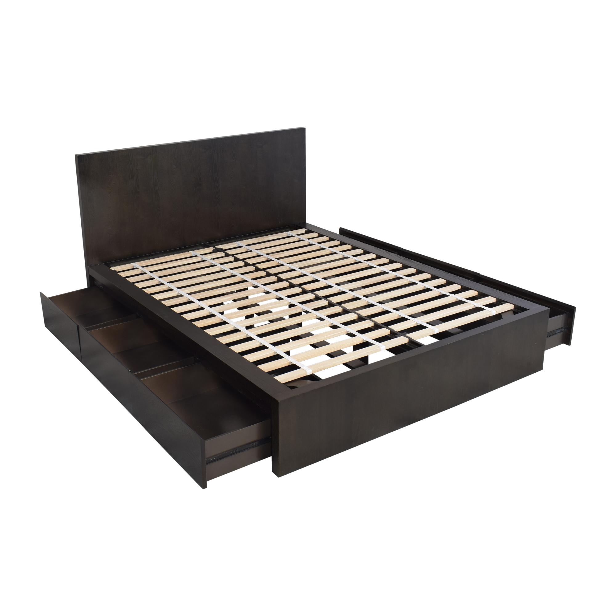 West Elm West Elm Queen Six Drawer Storage Bed on sale