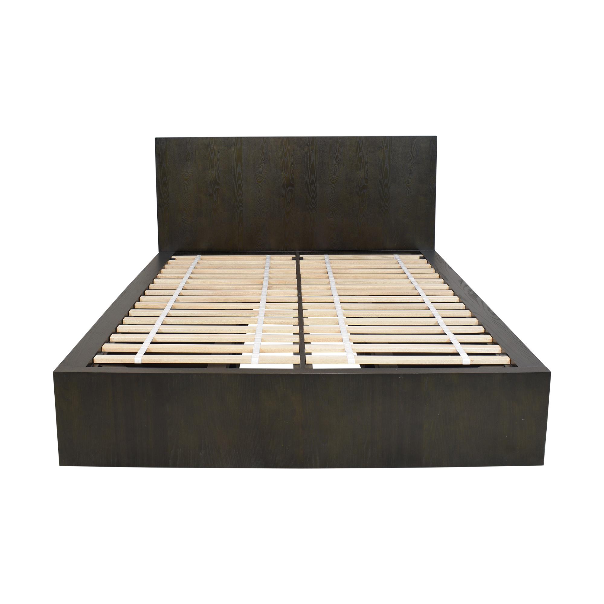 shop West Elm Queen Six Drawer Storage Bed West Elm Bed Frames