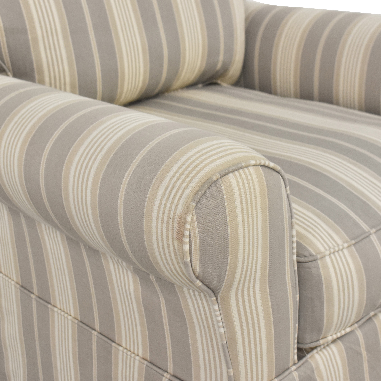 Raymour & Flanigan Raymour & Flanigan Stripe Swivel Rocker Chair Chairs