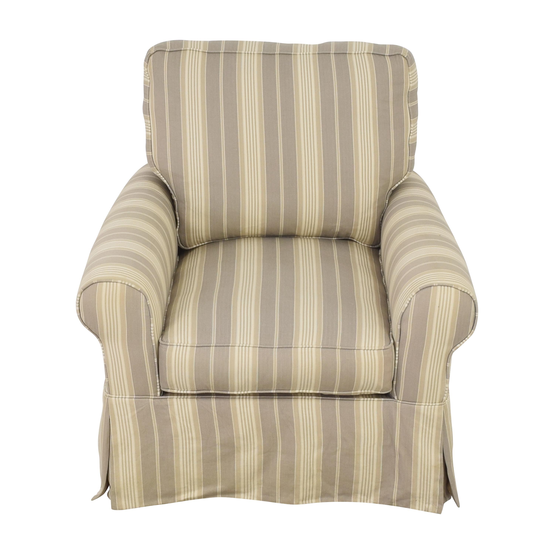 Raymour & Flanigan Raymour & Flanigan Stripe Swivel Rocker Chair ma