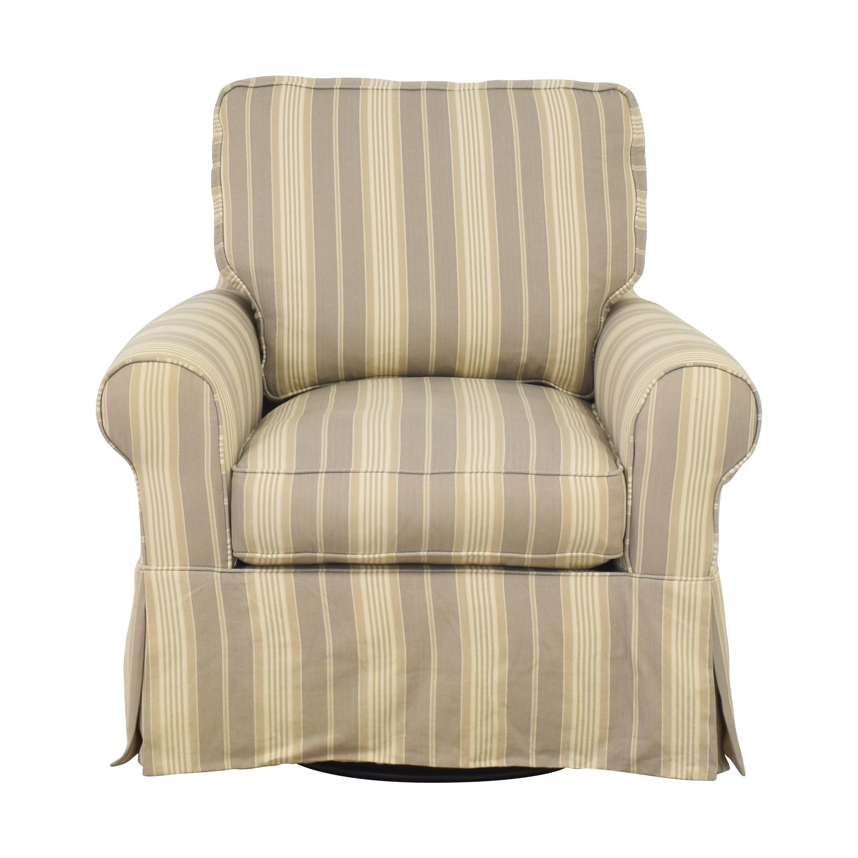 shop Raymour & Flanigan Raymour & Flanigan Stripe Swivel Rocker Chair online