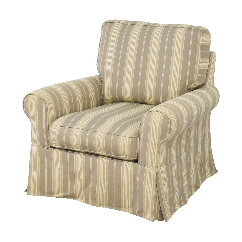 Raymour & Flanigan Raymour & Flanigan Stripe Swivel Rocker Chair Accent Chairs