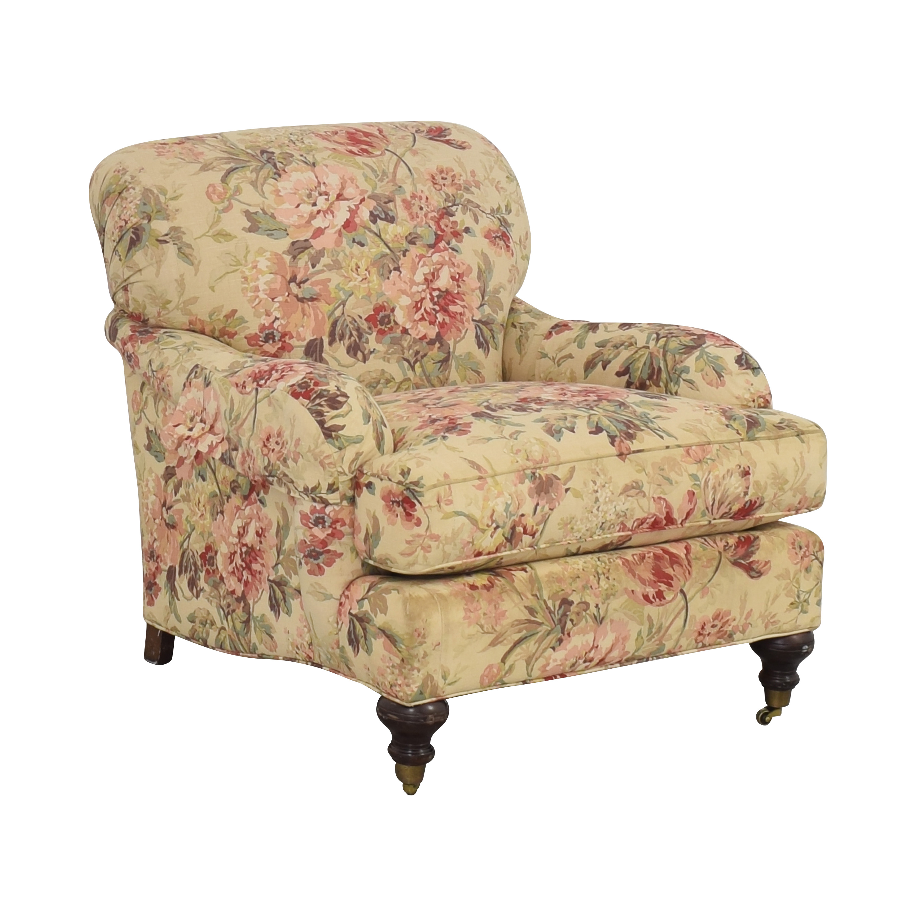 William Alan William Alan Floral Accent Chair second hand