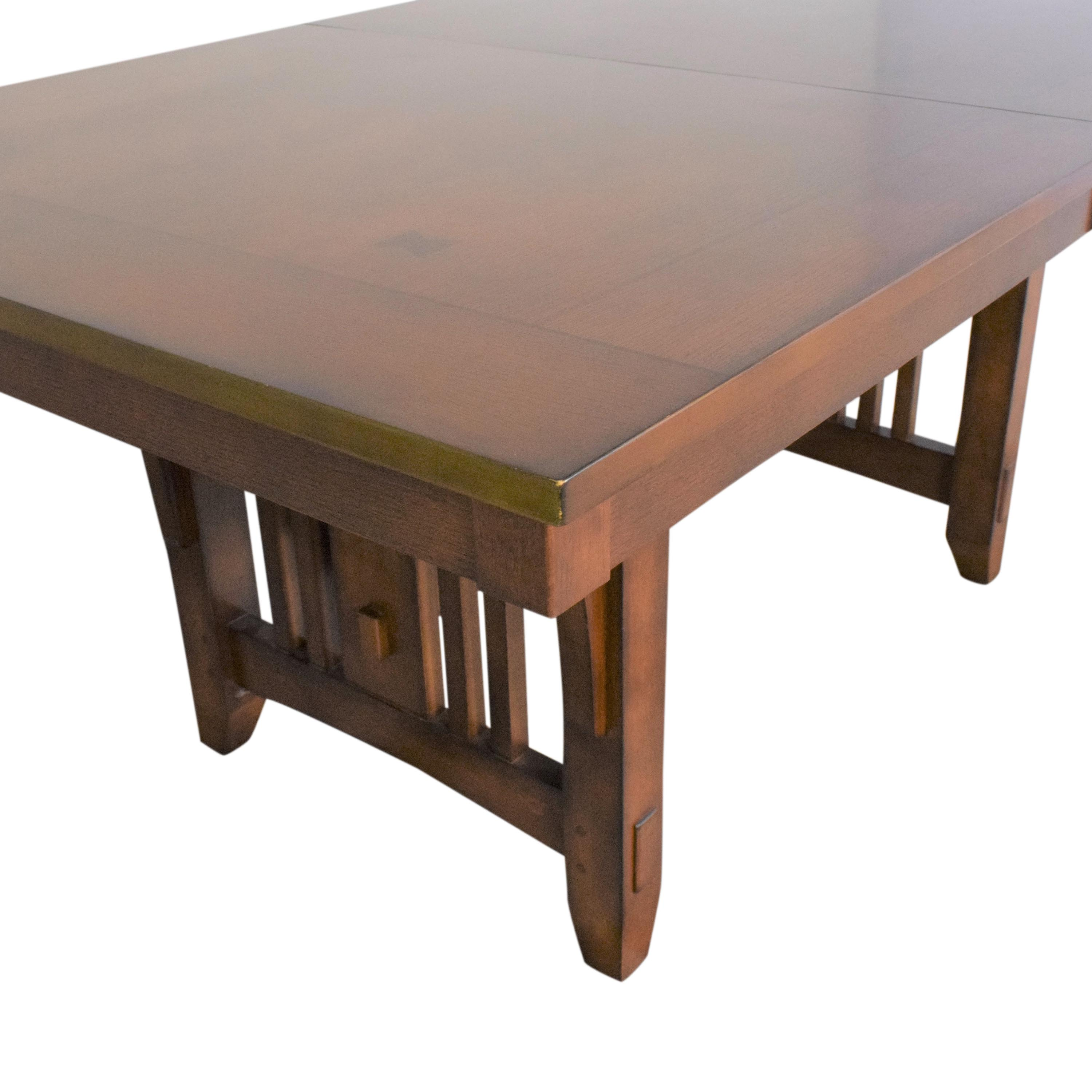 Green River Furniture Green River Mission Style Extendable Dining Table ma