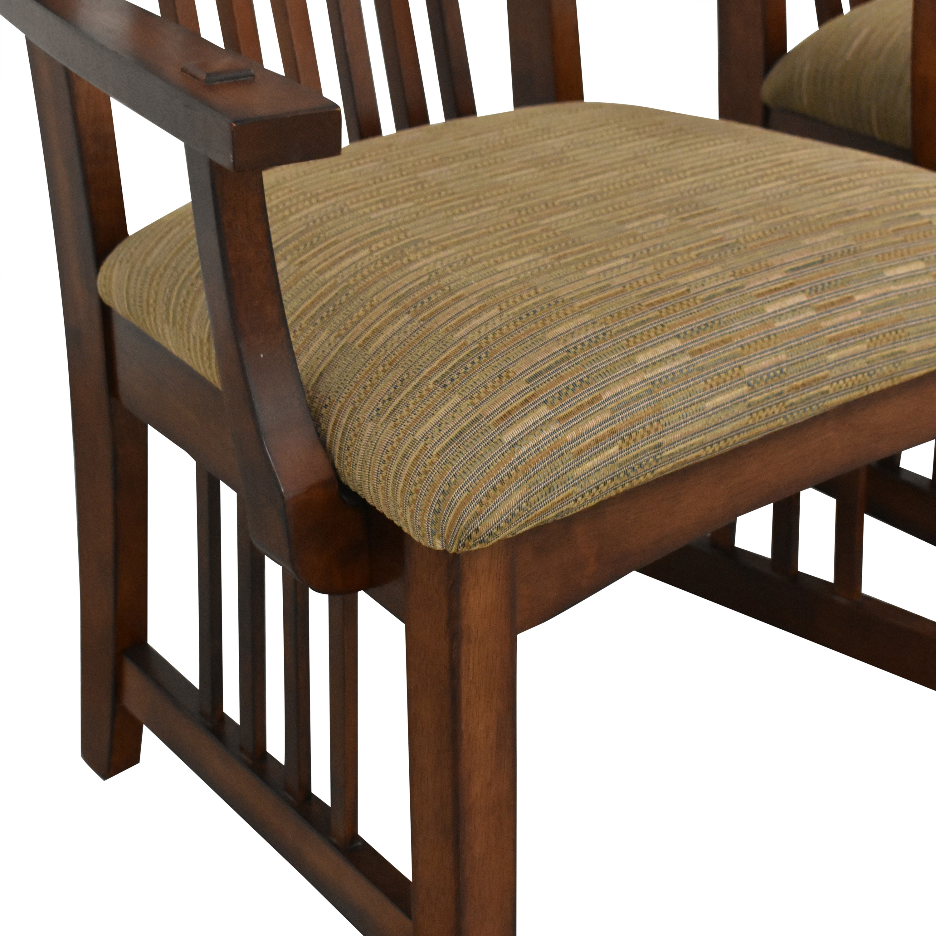 Green River Furniture Green River Mission Style Dining Chairs brown