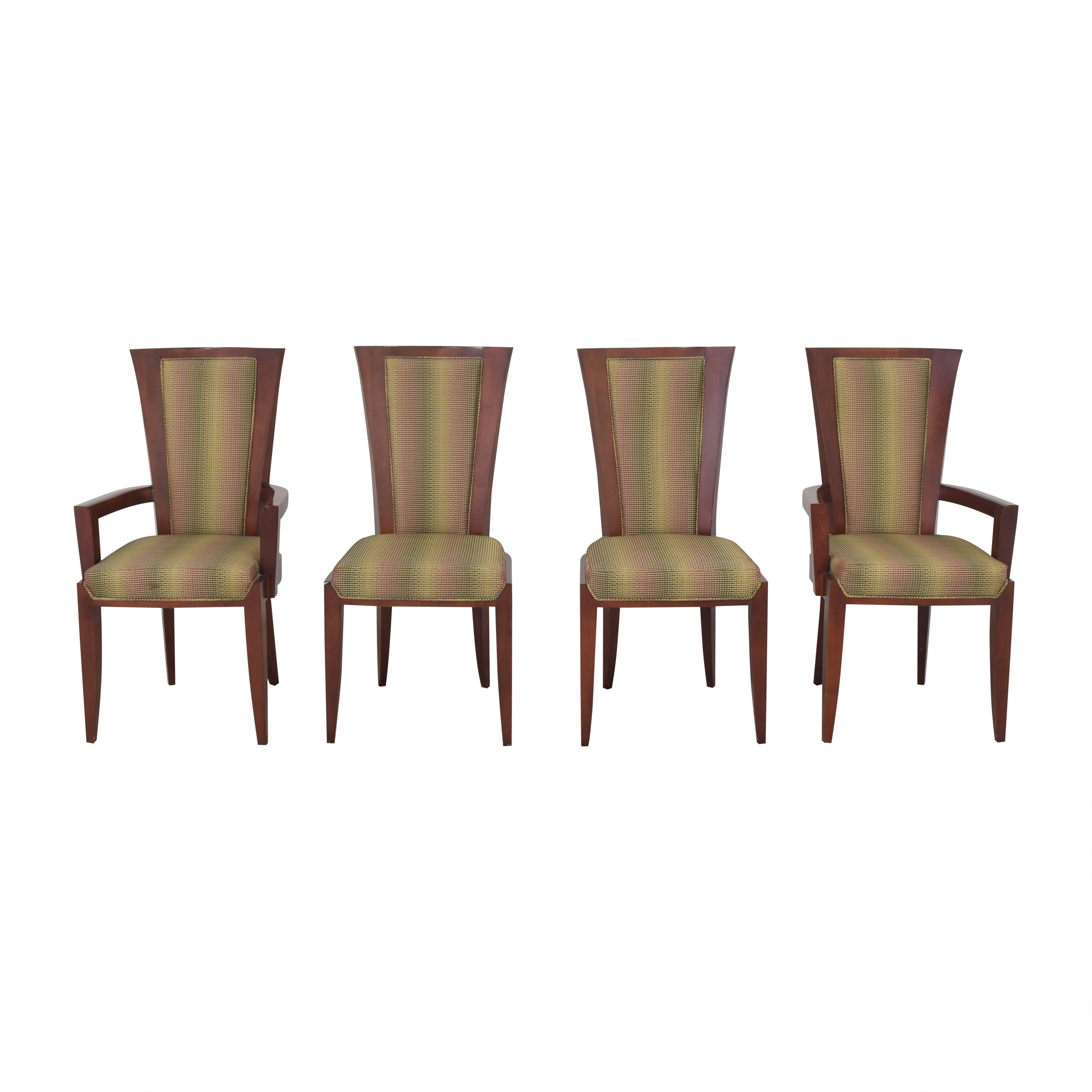 Upholstered Art Deco Dining Chairs multi