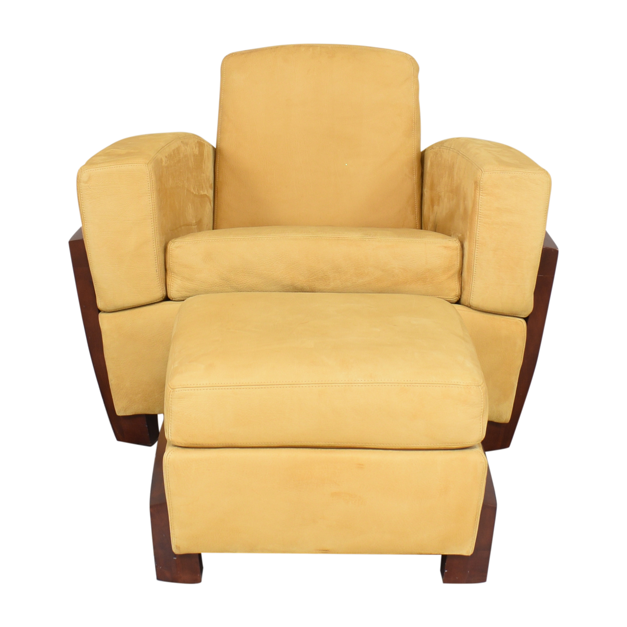 buy  Art Deco Style Club Chair and Ottoman online