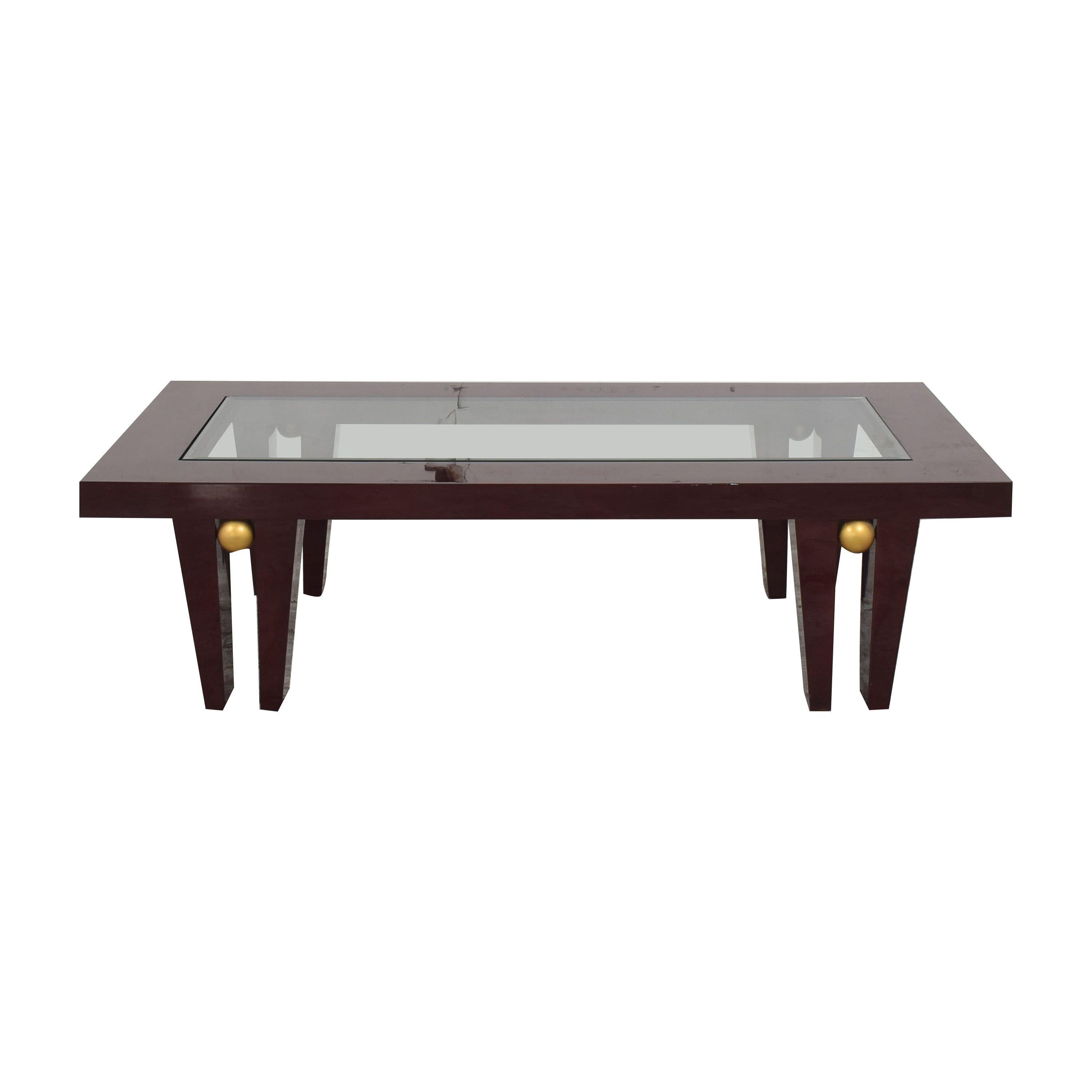 Evanson Studios Evanson Studios Astor Coffee Table dark red