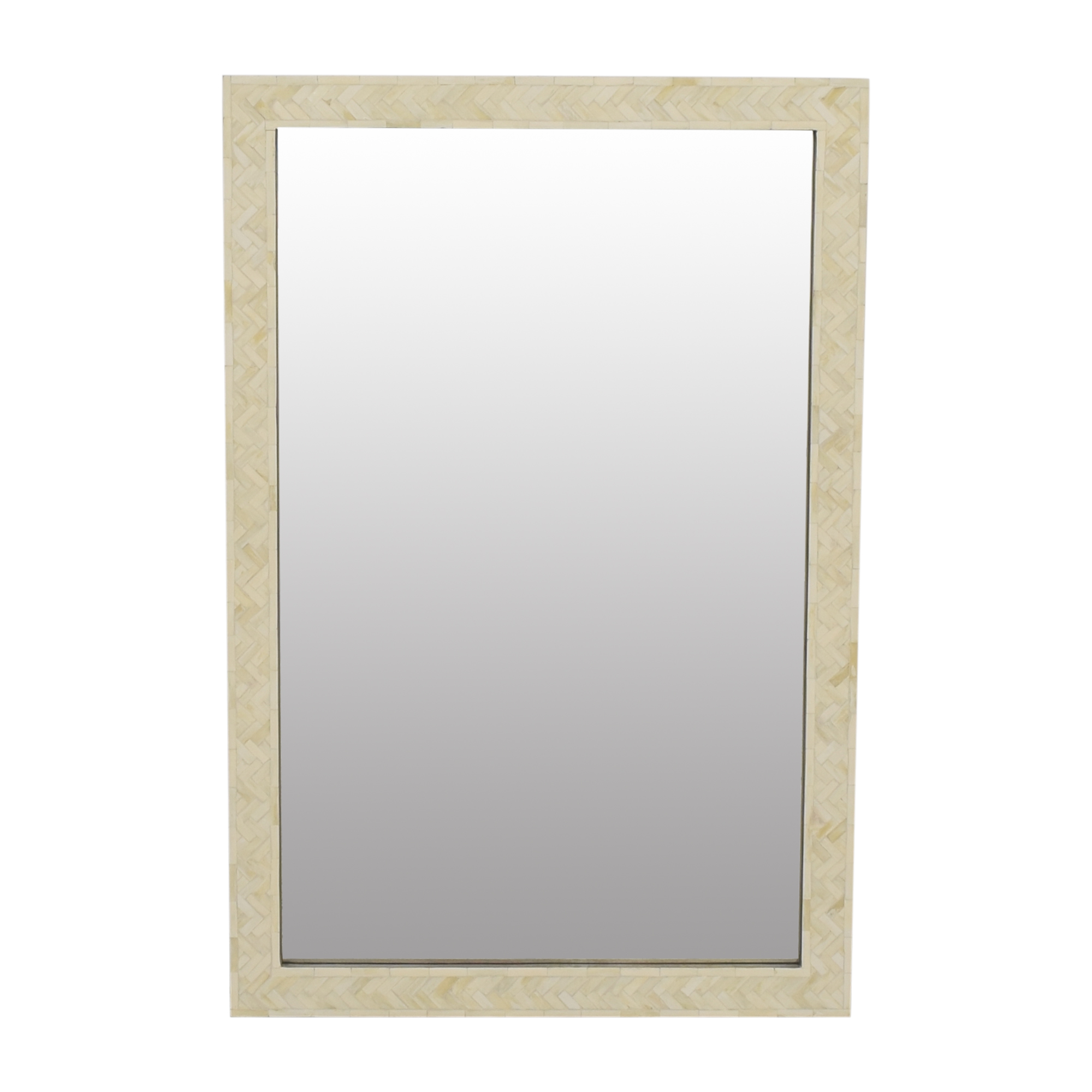 West Elm Parsons Wall Mirror with Inlay / Decor