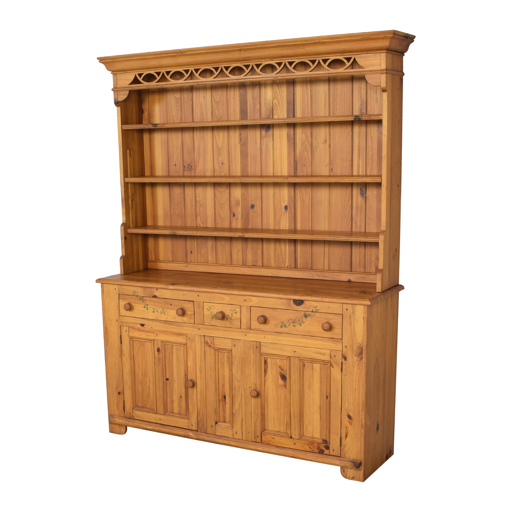 buy Ethan Allen Hutch with Cabinets Ethan Allen