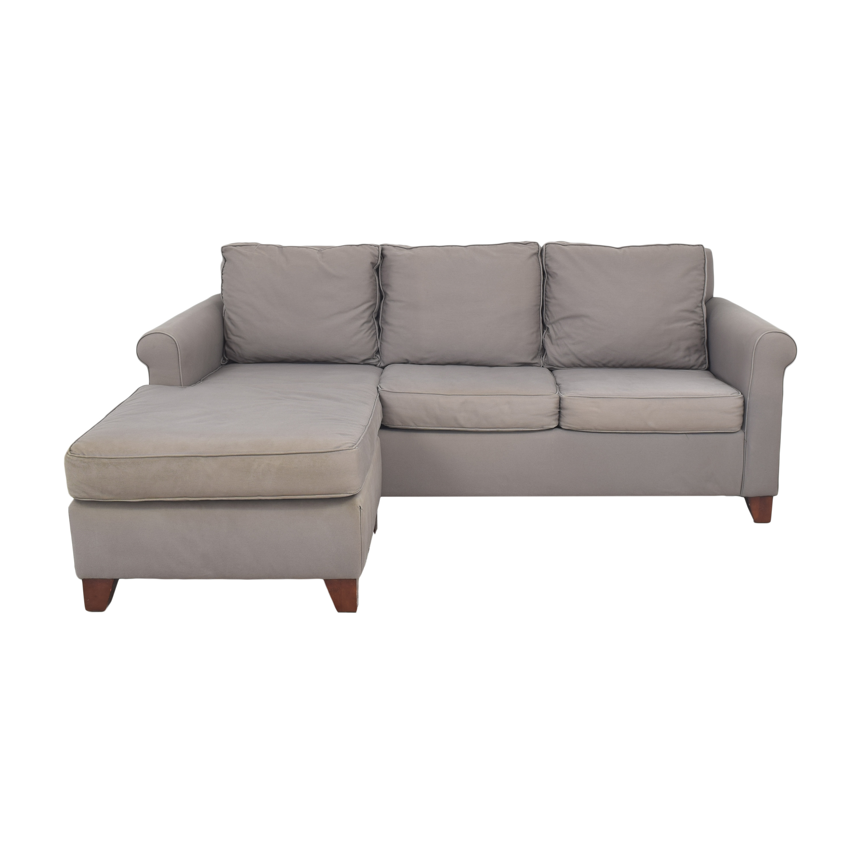 shop Pottery Barn Cameron Sectional Sofa with Reversible Chaise Pottery Barn