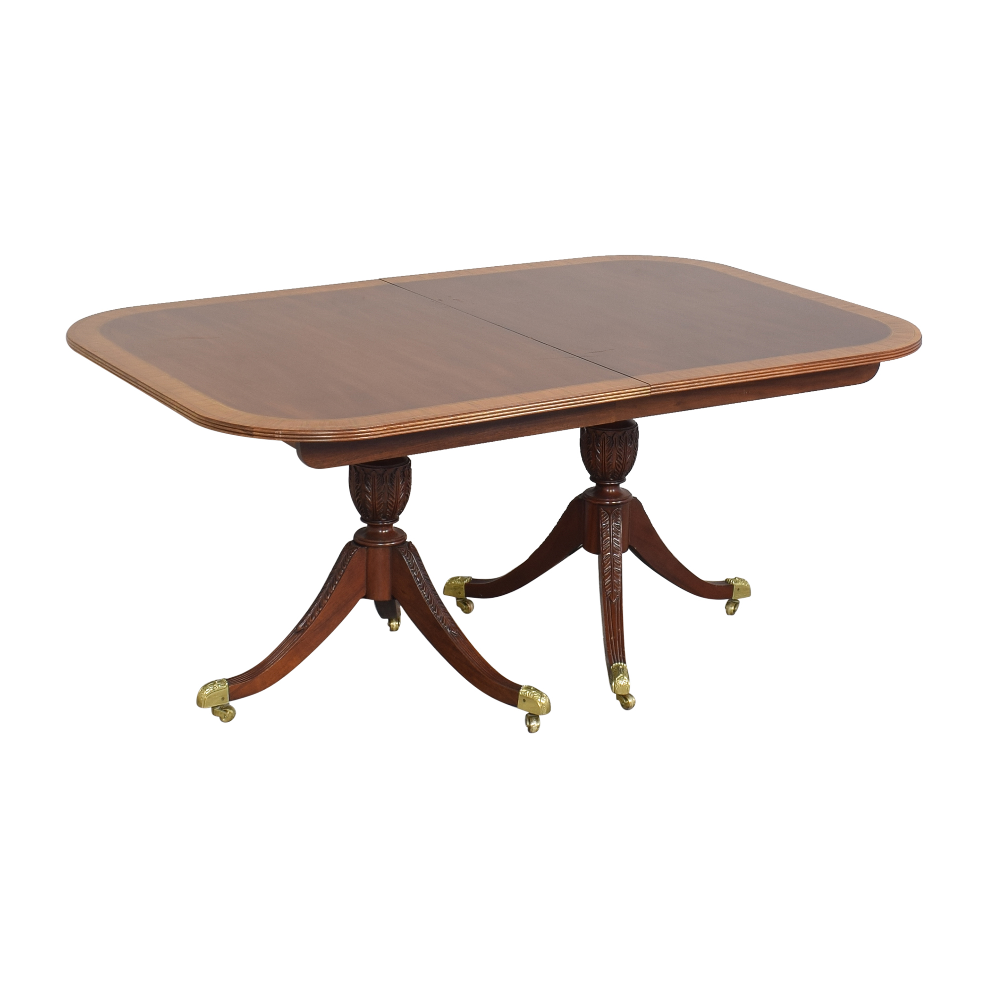 Councill Councill Craftsman Georgian Banded Extendable Dining Table ct