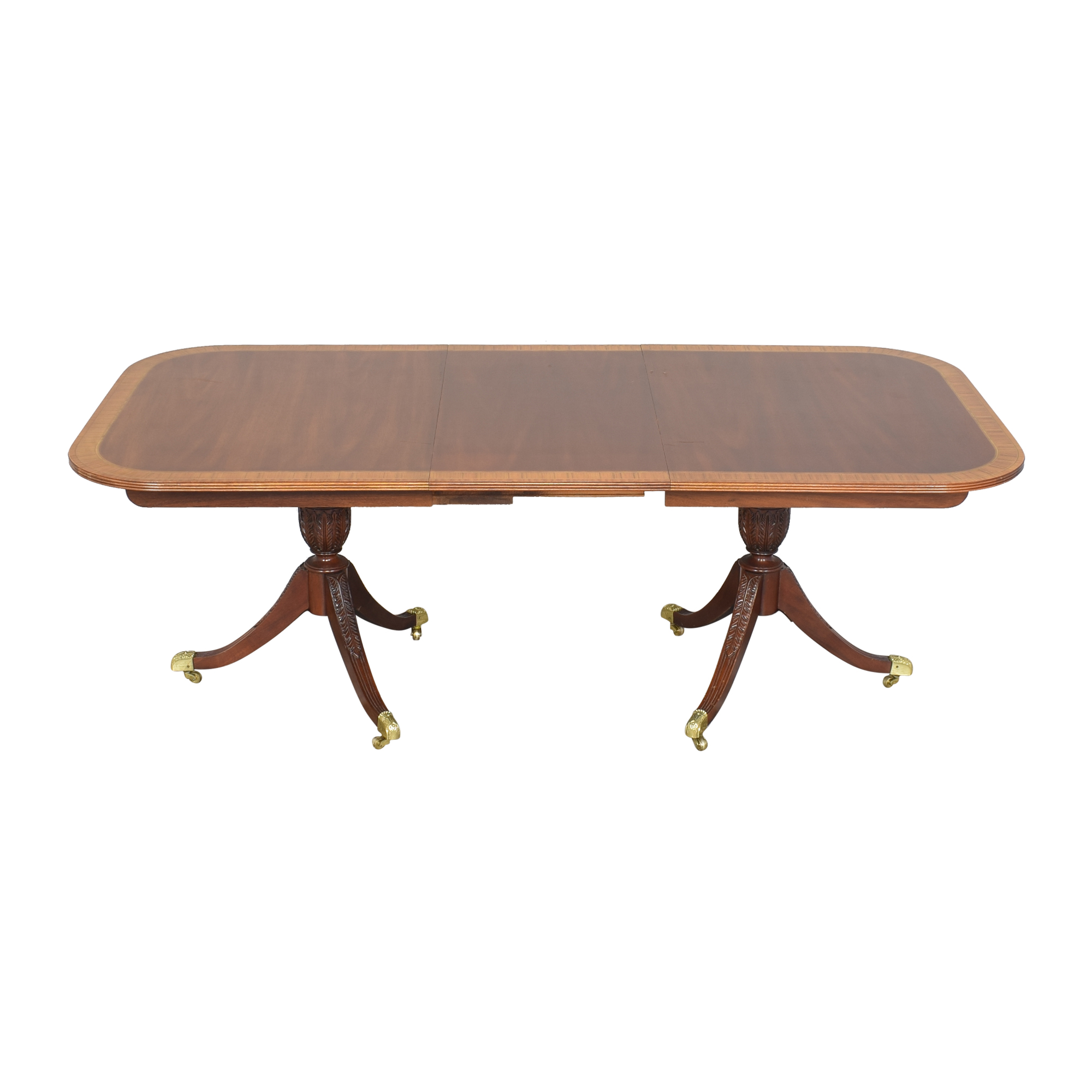 buy Councill Craftsman Georgian Banded Extendable Dining Table Councill