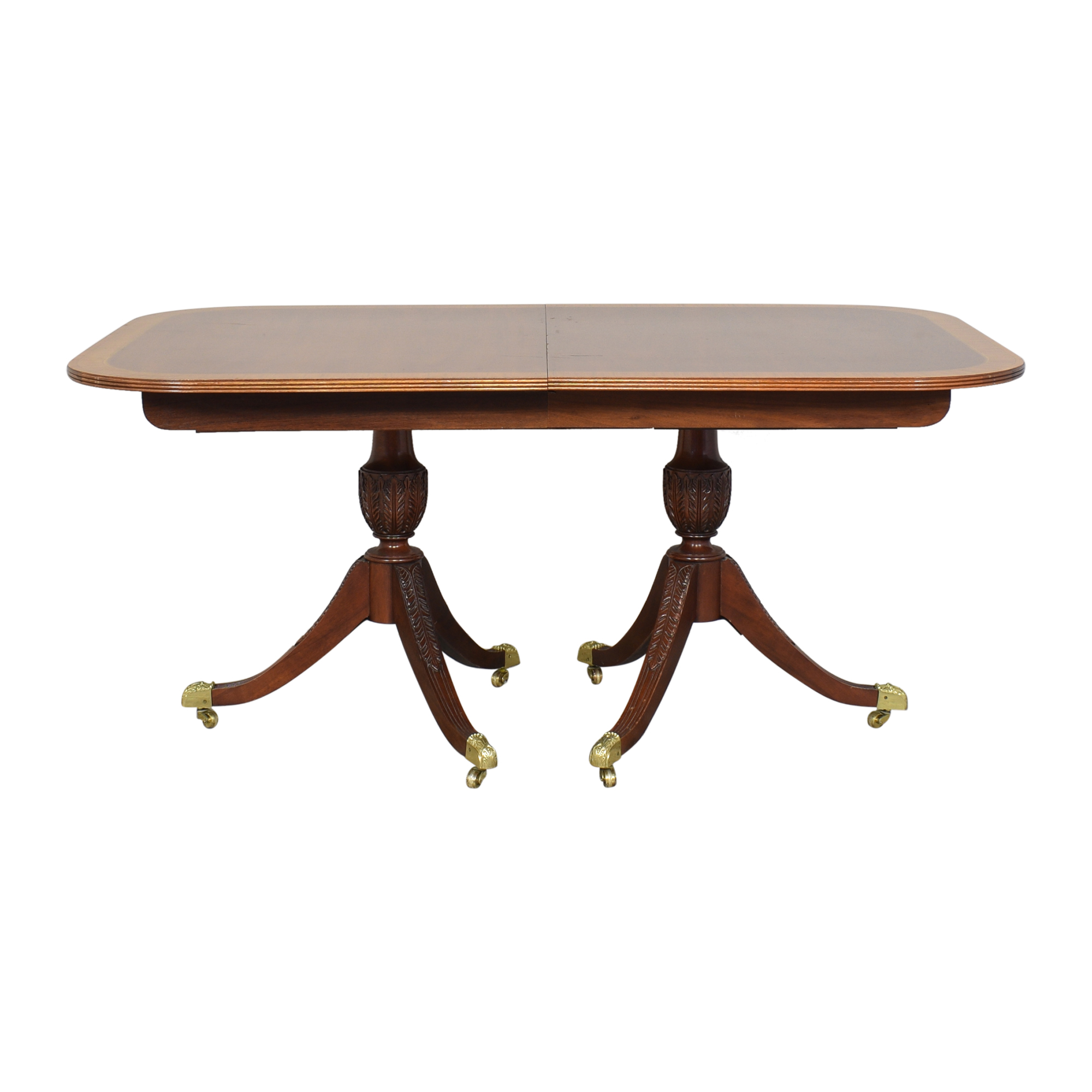 buy Councill Craftsman Georgian Banded Extendable Dining Table Councill Dinner Tables