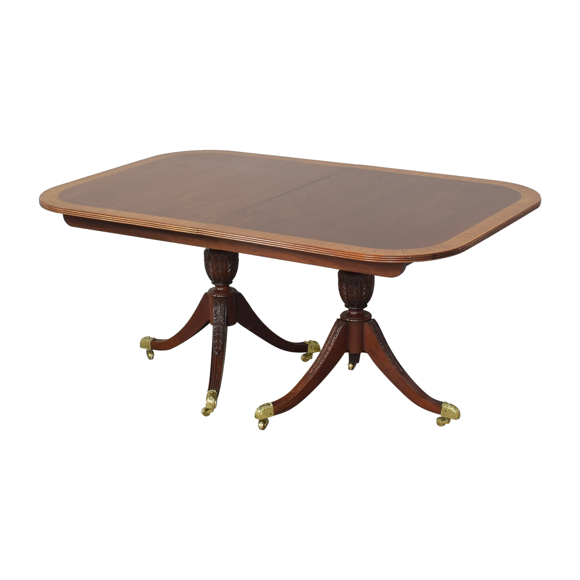 Councill Councill Craftsman Georgian Banded Extendable Dining Table brown