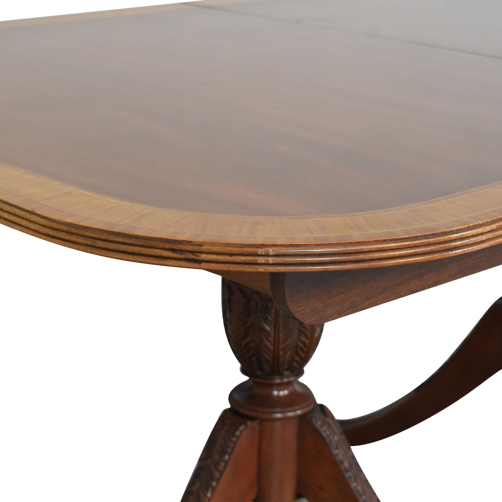 Councill Councill Craftsman Georgian Banded Extendable Dining Table nj