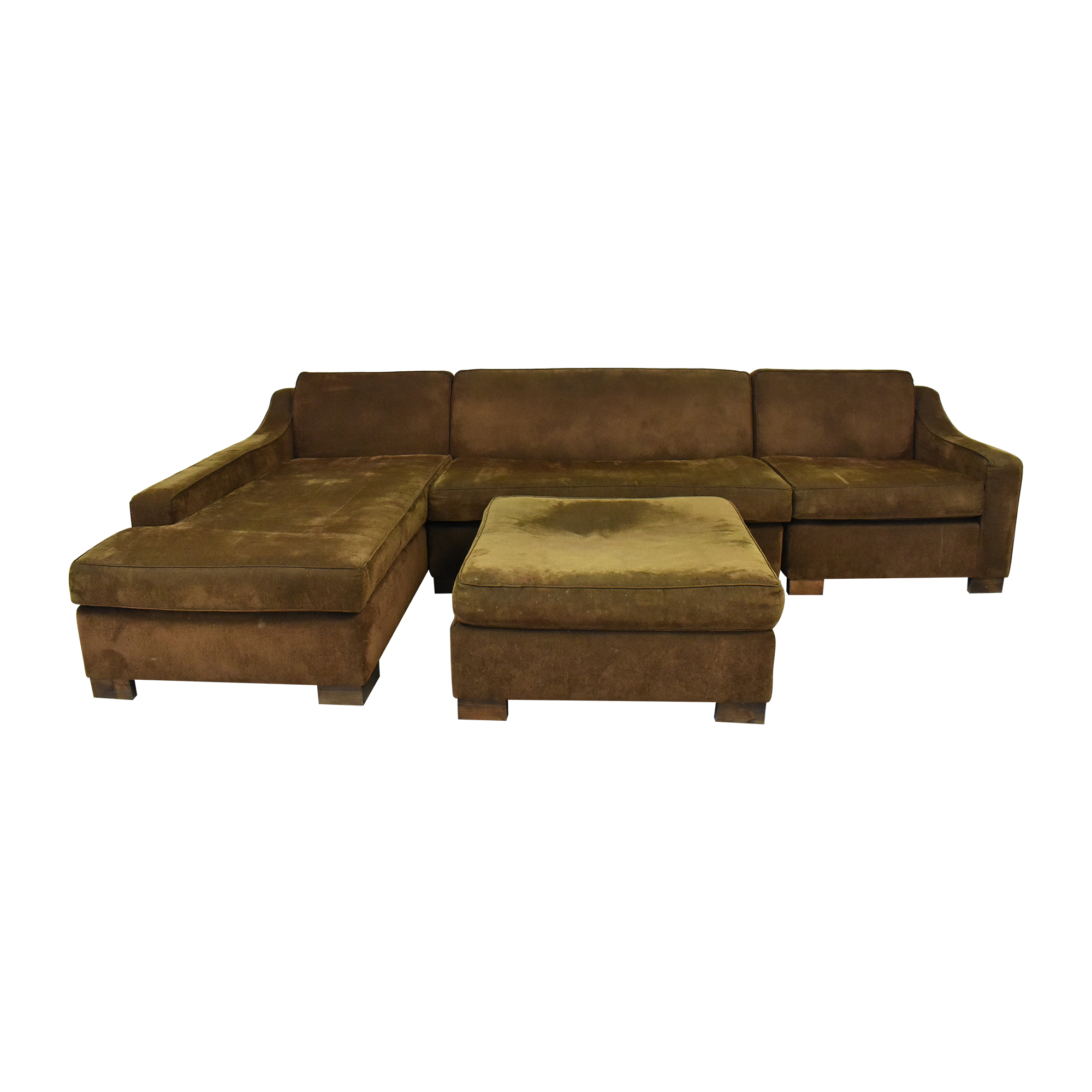 Custom Chaise Sectional Sofa with Ottoman pa