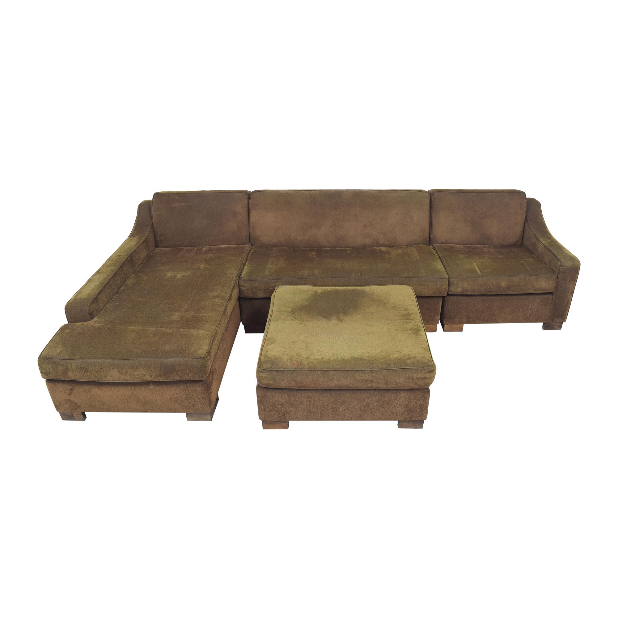 Custom Chaise Sectional Sofa with Ottoman coupon