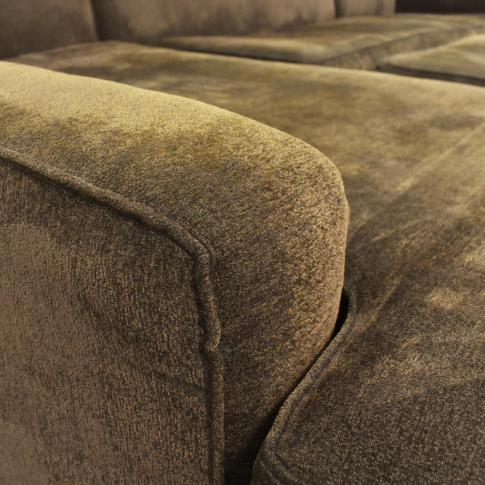 Custom Chaise Sectional Sofa with Ottoman / Sofas