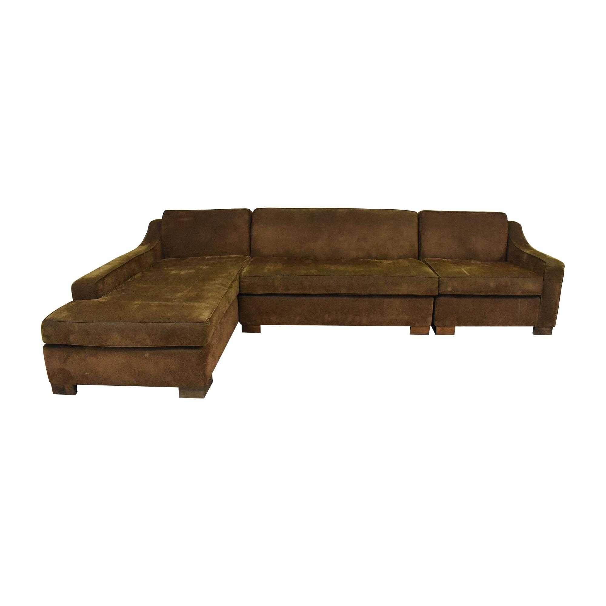 shop Custom Chaise Sectional Sofa with Ottoman  Sofas