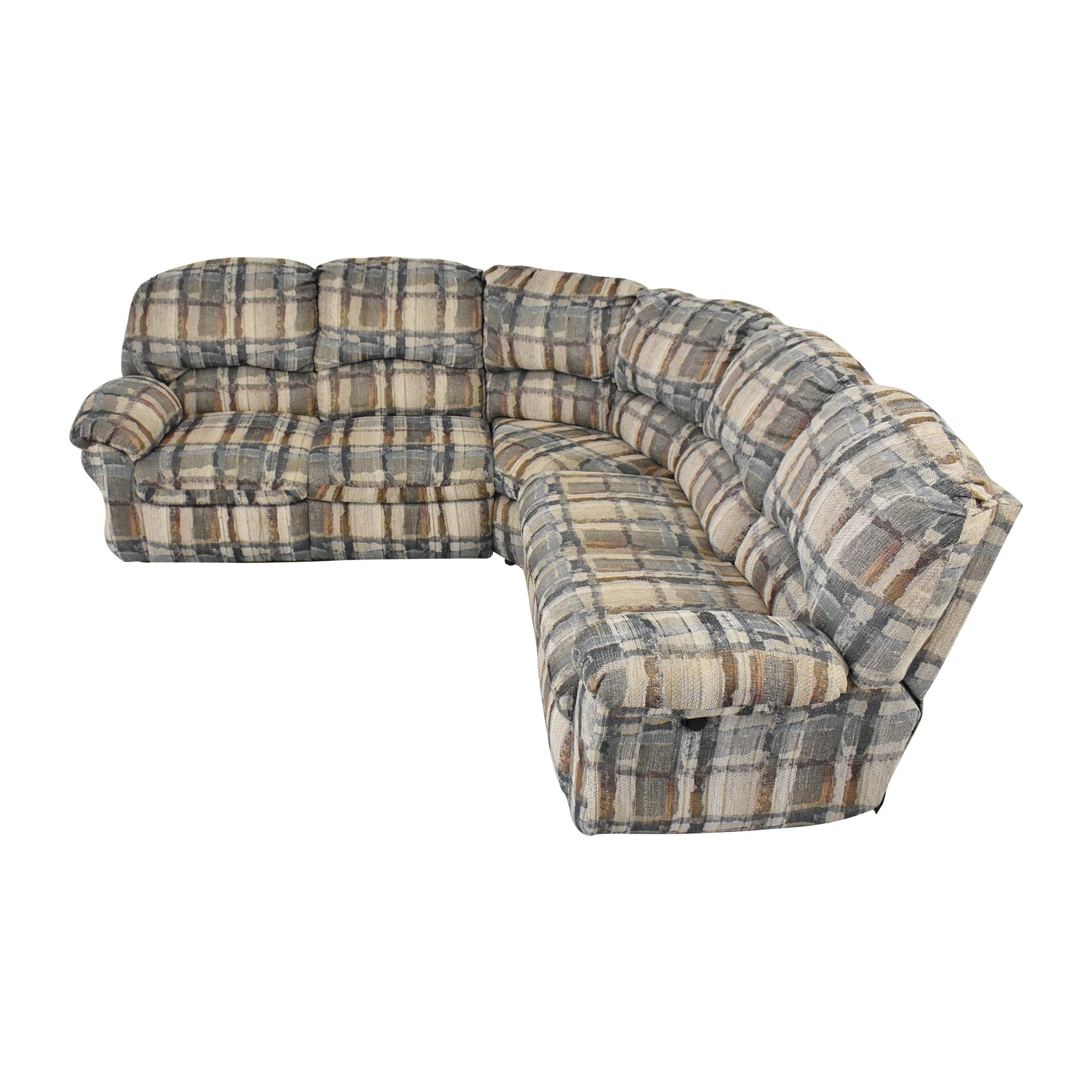 Berkline Berkline Crescent Sectional Sofa with Recliners pa
