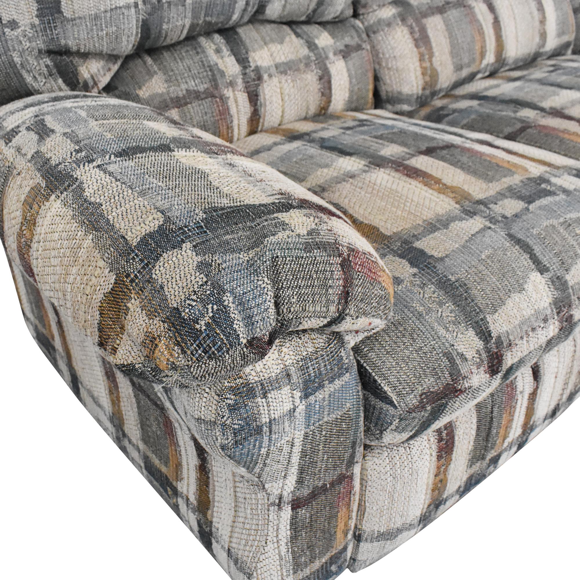 Berkline Berkline Crescent Sectional Sofa with Recliners ma