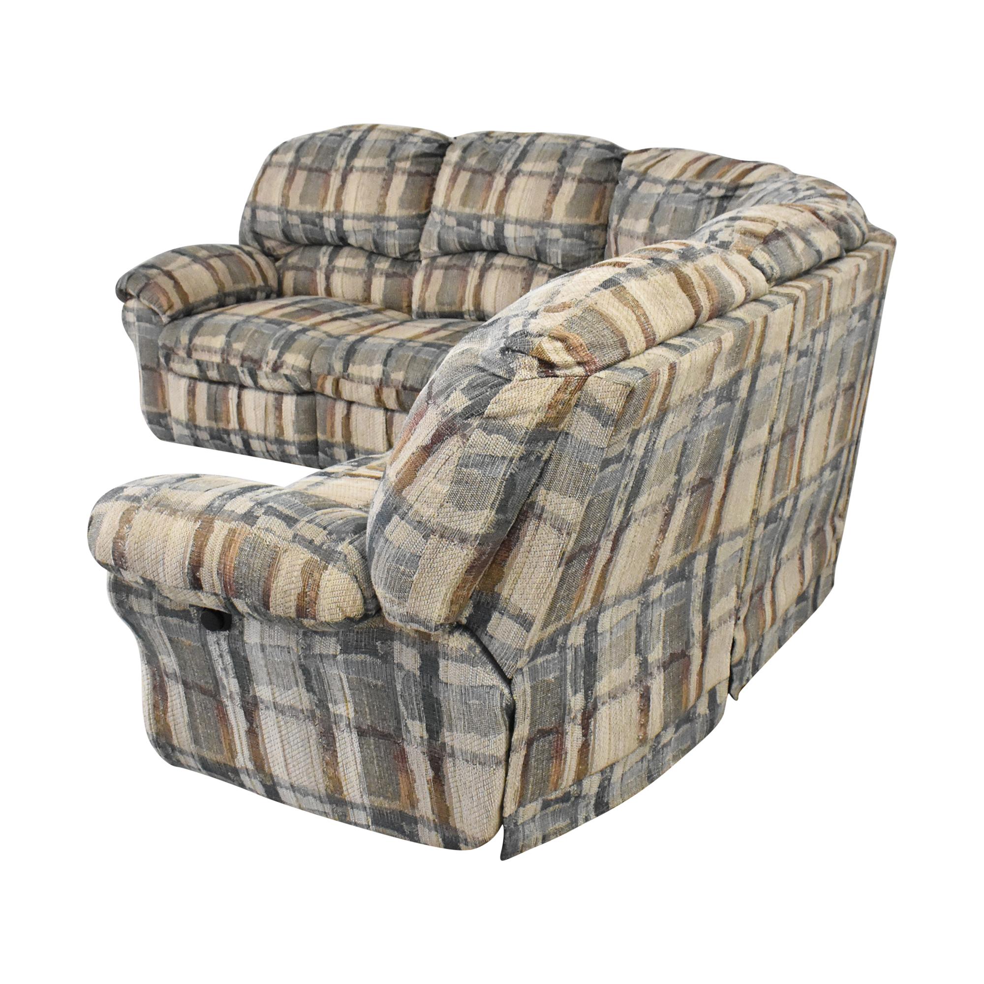 Berkline Berkline Crescent Sectional Sofa with Recliners dimensions