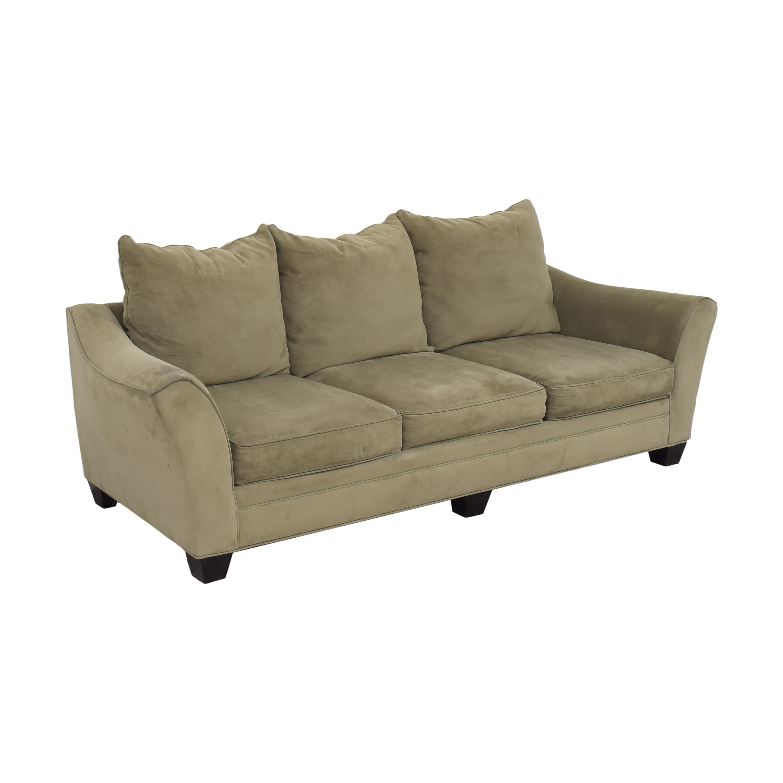 Raymour & Flanigan Raymour & Flanigan Three Cushion Sofa light green