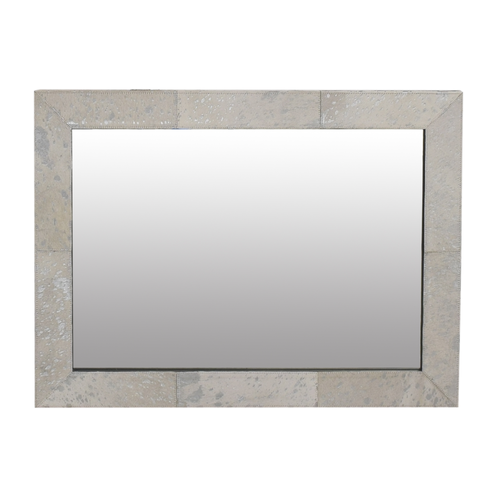 Restoration Hardware Restoration Hardware Metallic Patterned Mirror white and gray