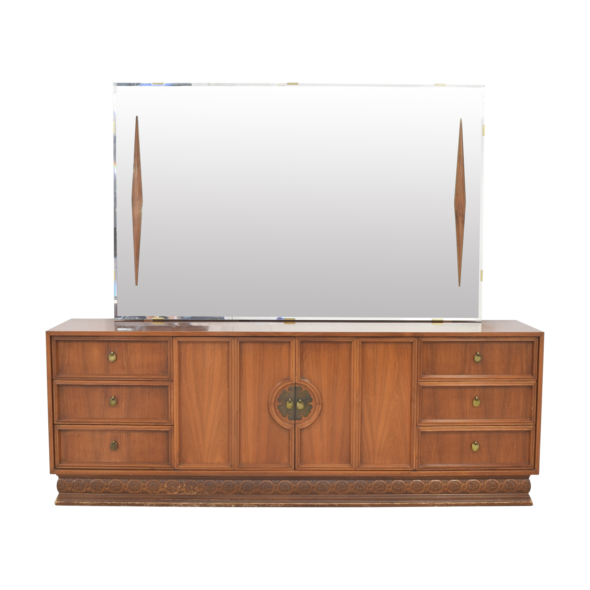 Nine Drawer Dresser with Mirror for sale