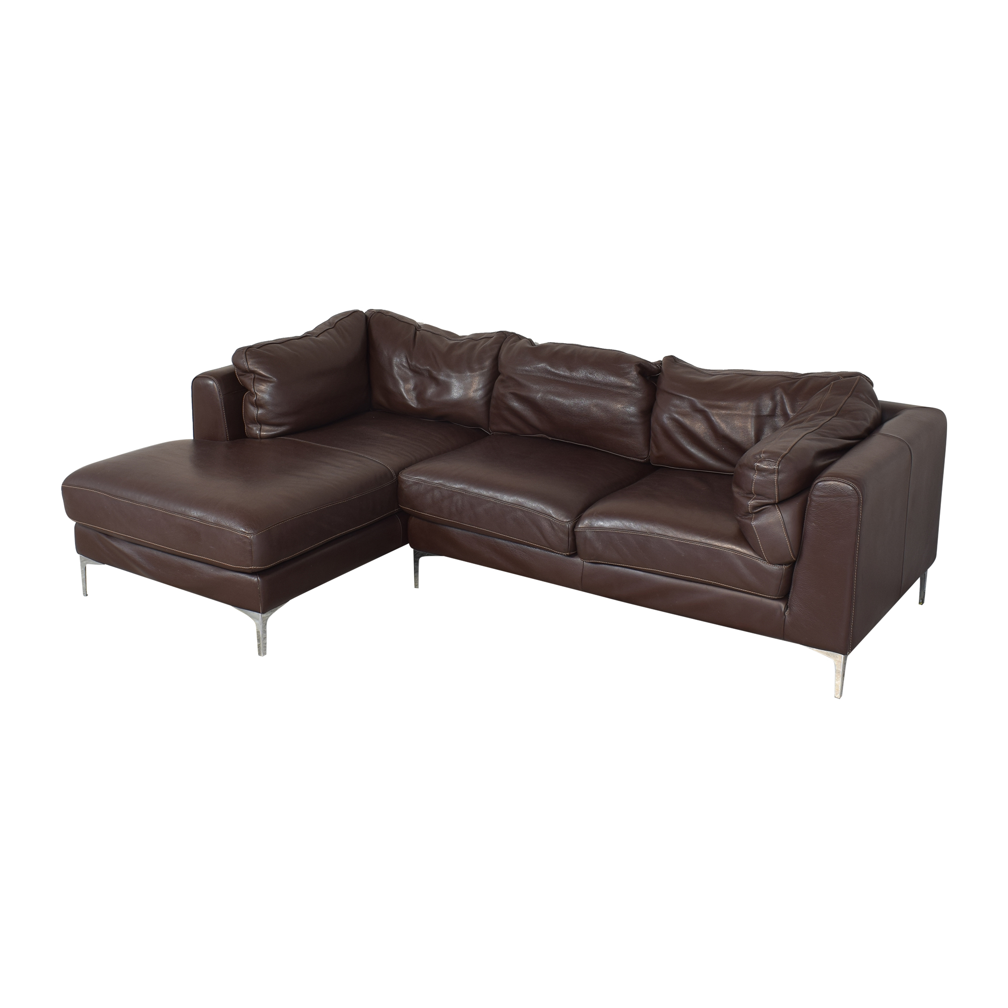 Design Within Reach Nicoletti Sectional Sofa with Chaise / Sofas