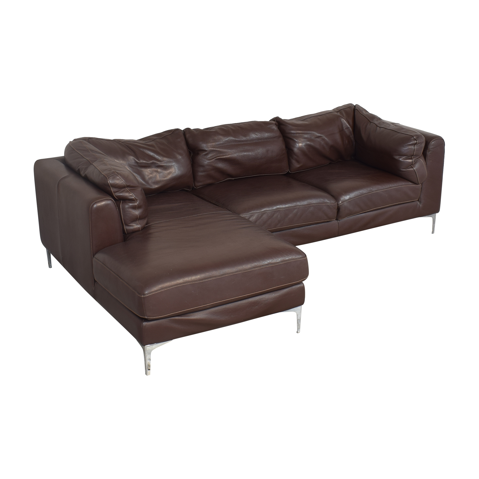 shop Design Within Reach Nicoletti Sectional Sofa with Chaise Design Within Reach Sofas