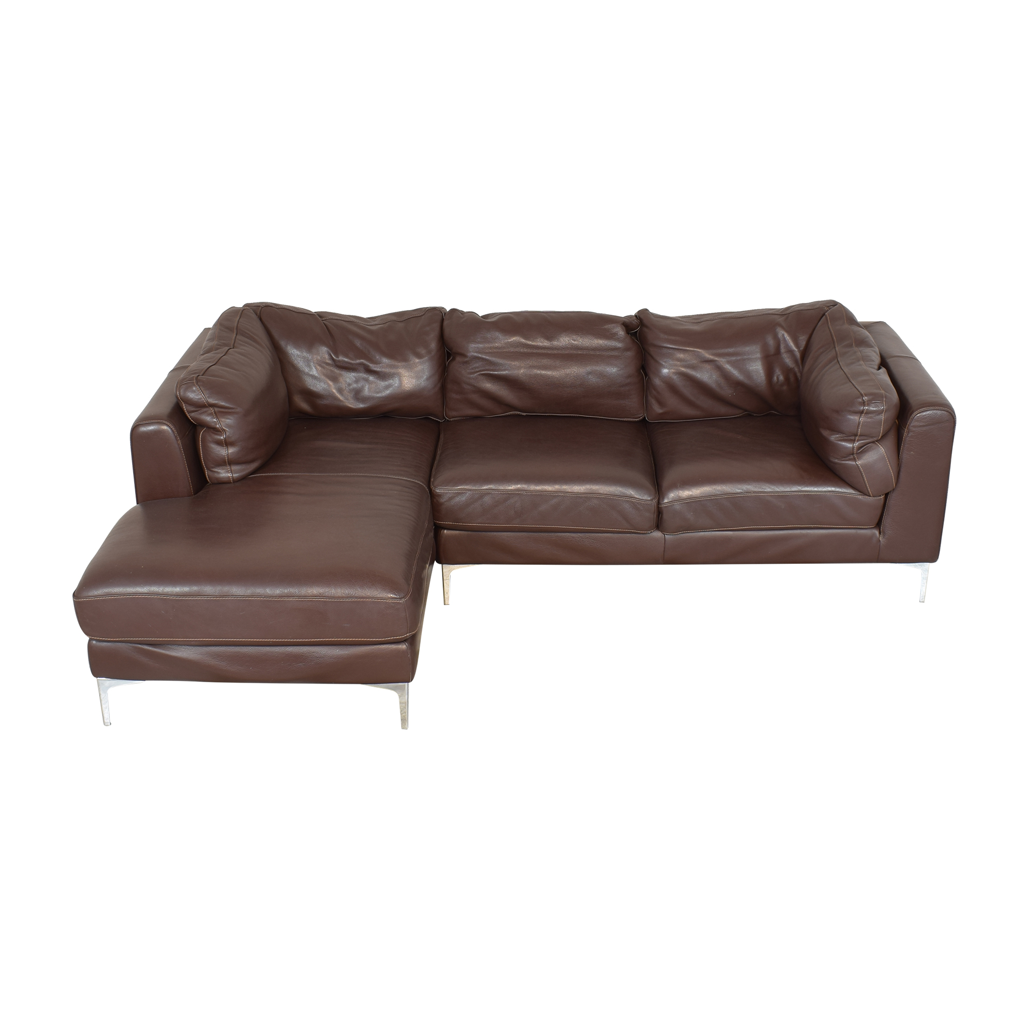 buy Design Within Reach Nicoletti Sectional Sofa with Chaise Design Within Reach Sofas