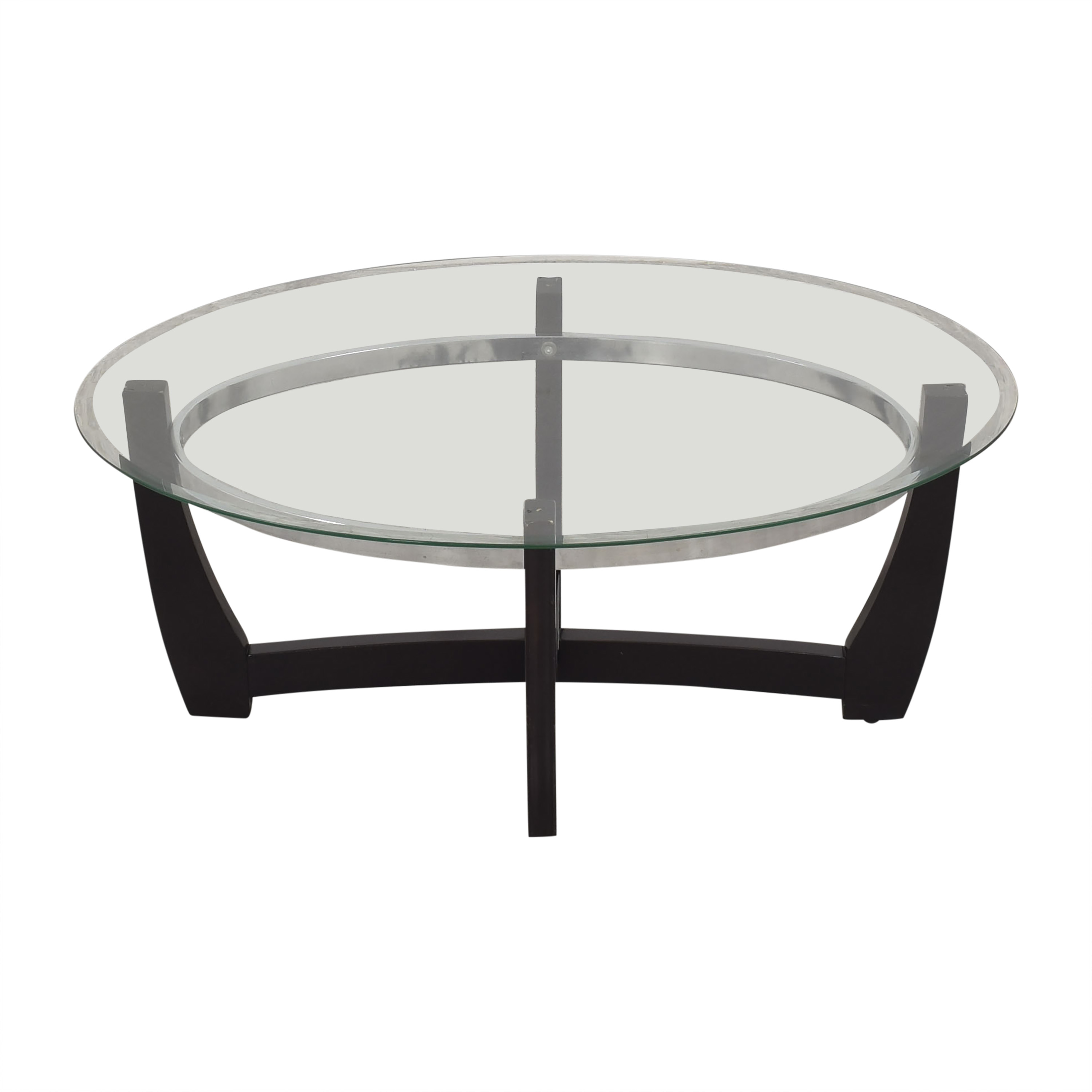 Macy's Macy's Modern Coffee Table with Transparent Surface Coffee Tables