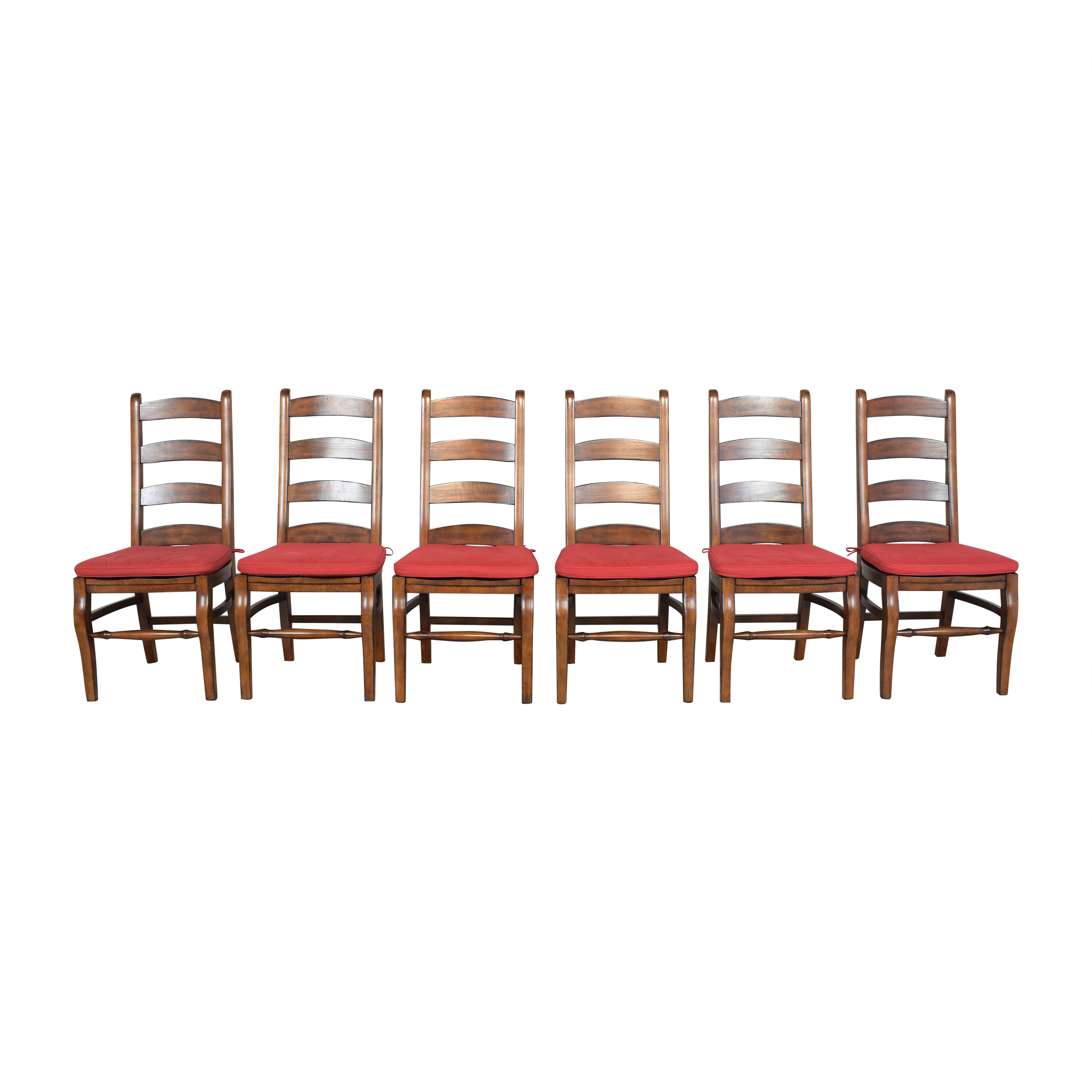 Pottery Barn Pottery Barn Wynn Ladderback Dining Chairs brown and red
