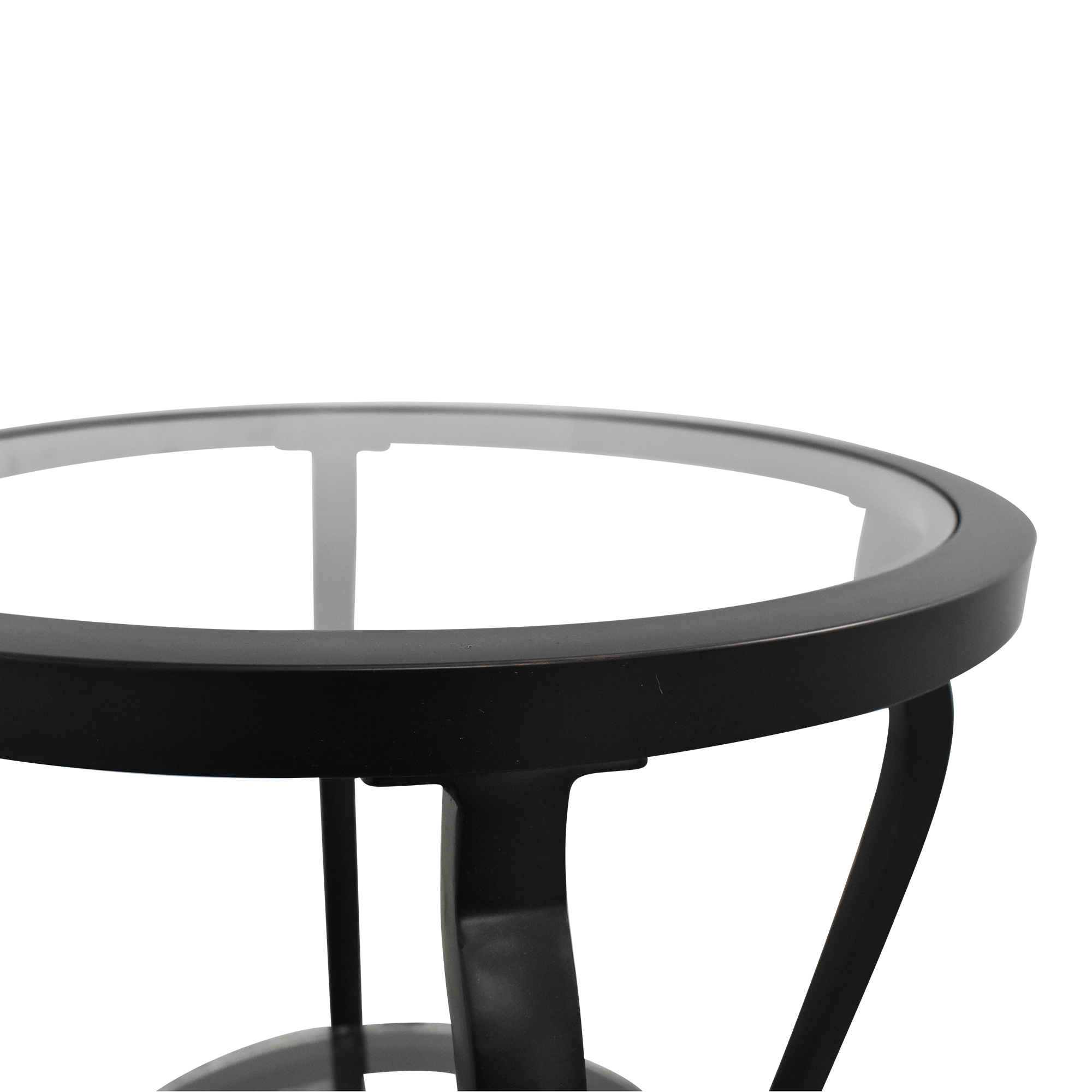 Round Top Accent Table used