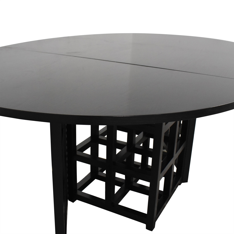 Cassina Cassina Gateleg Dining Table by Charles Rennie Macintosh black