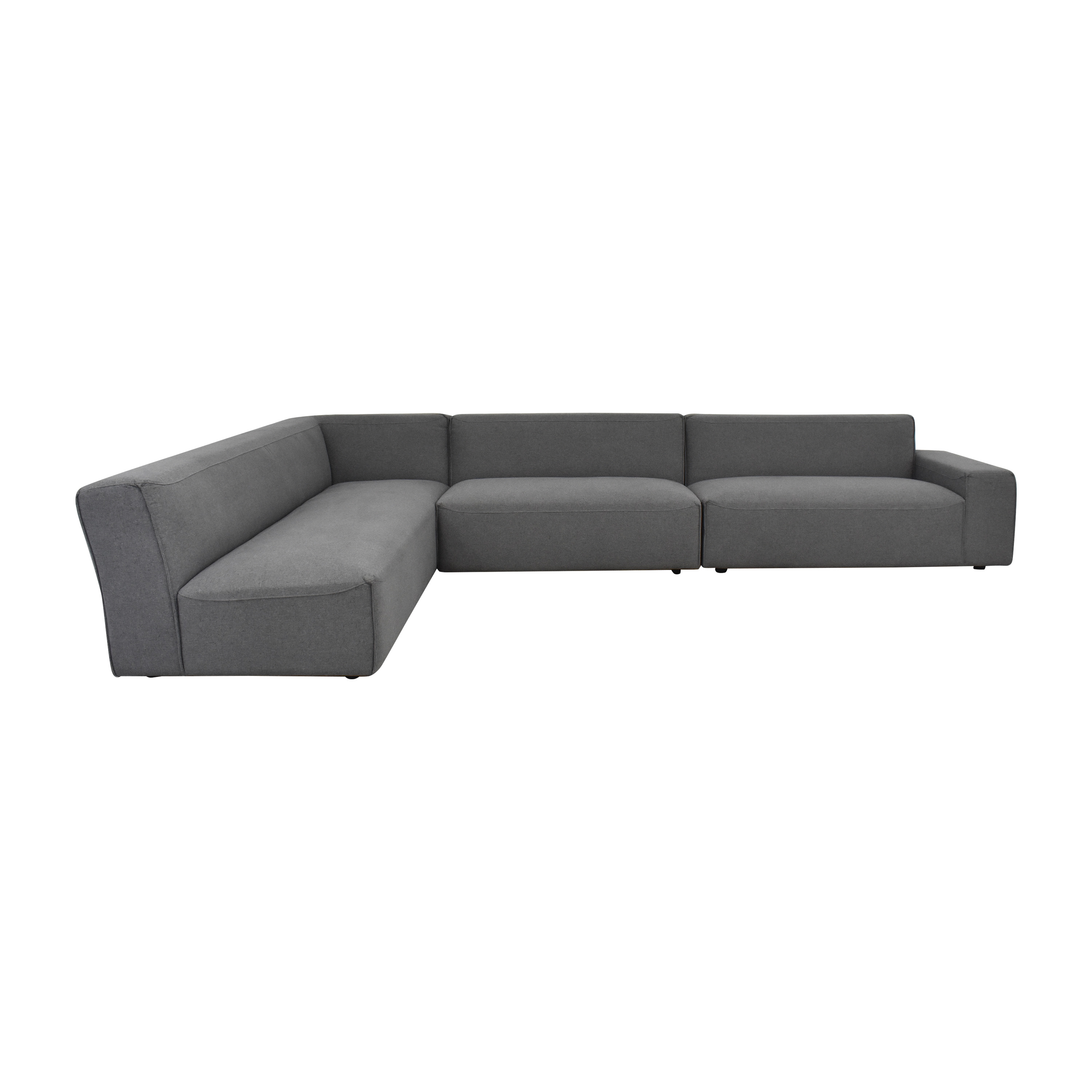 Interior Define Interior Define Crawford Sectional Sofa grey