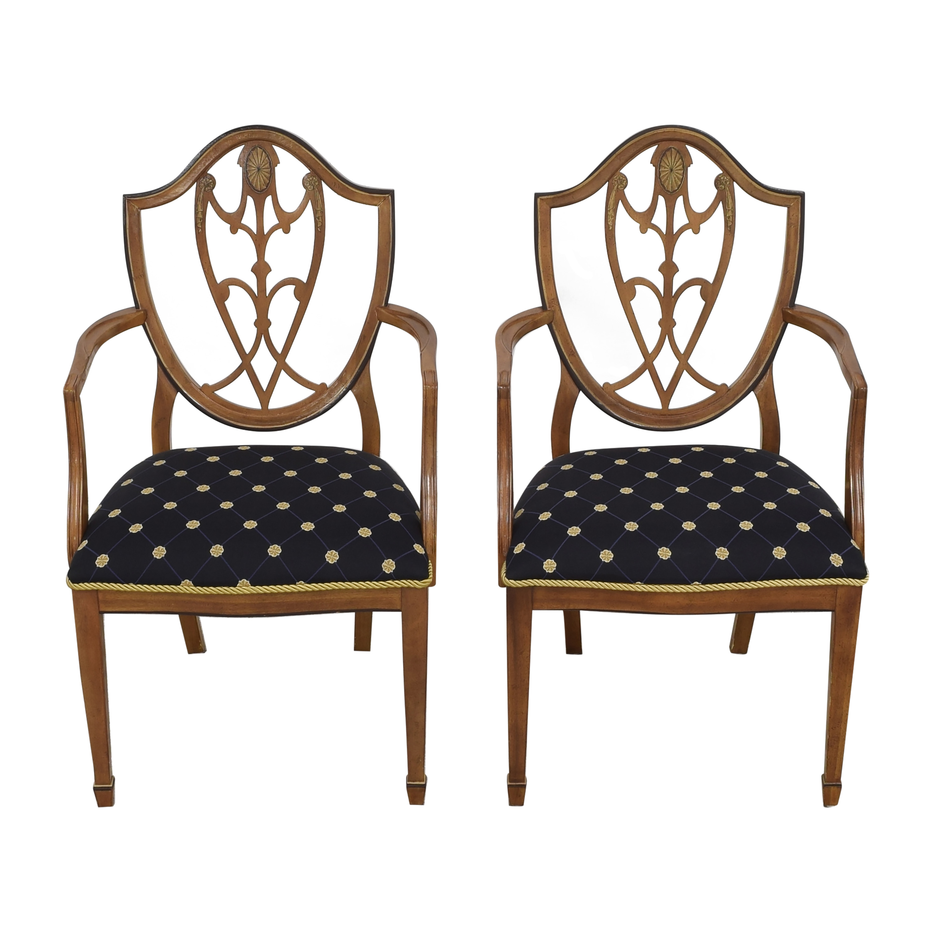 Drexel Drexel Upholstered Dining Arm Chairs ct